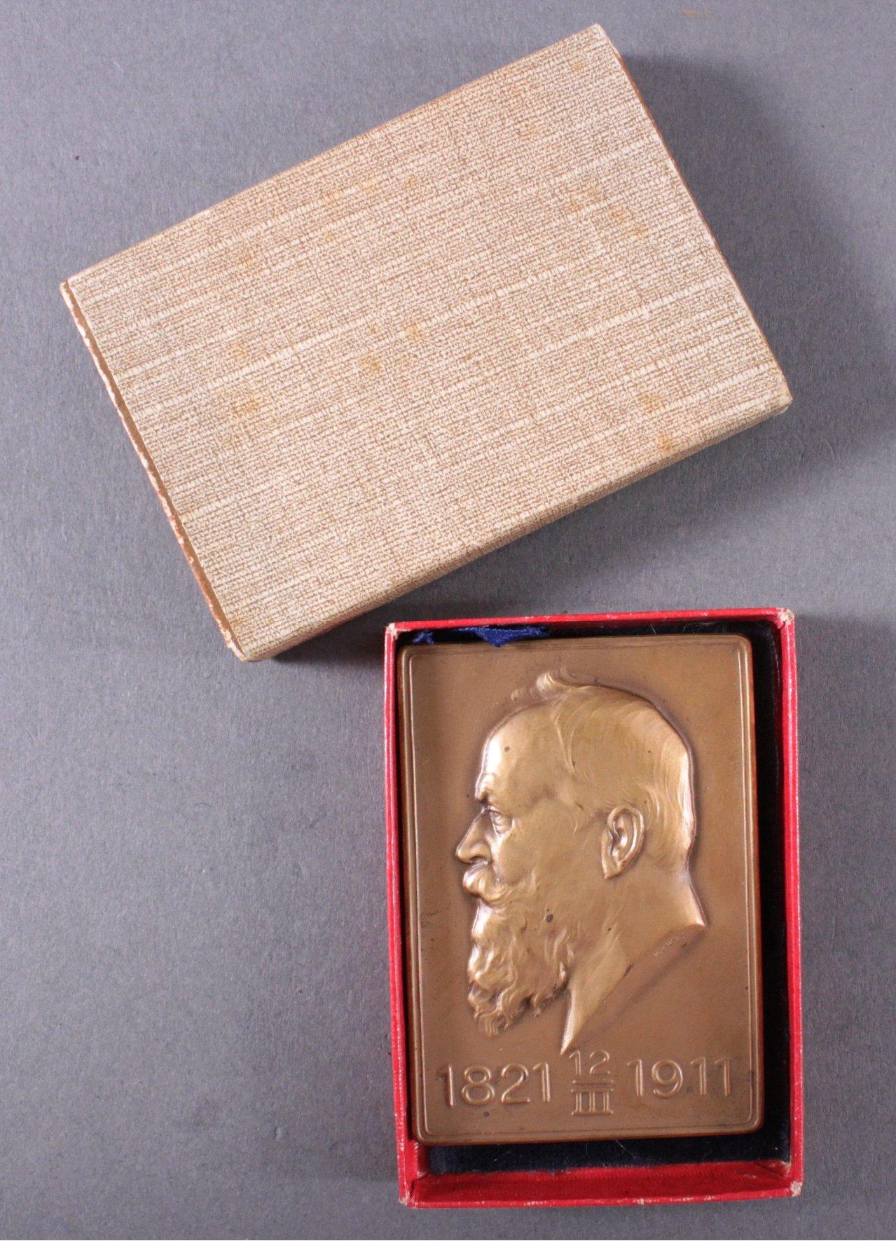 Bronzeplakette Prinzregent Luitpold von Bayern, 1821-1911