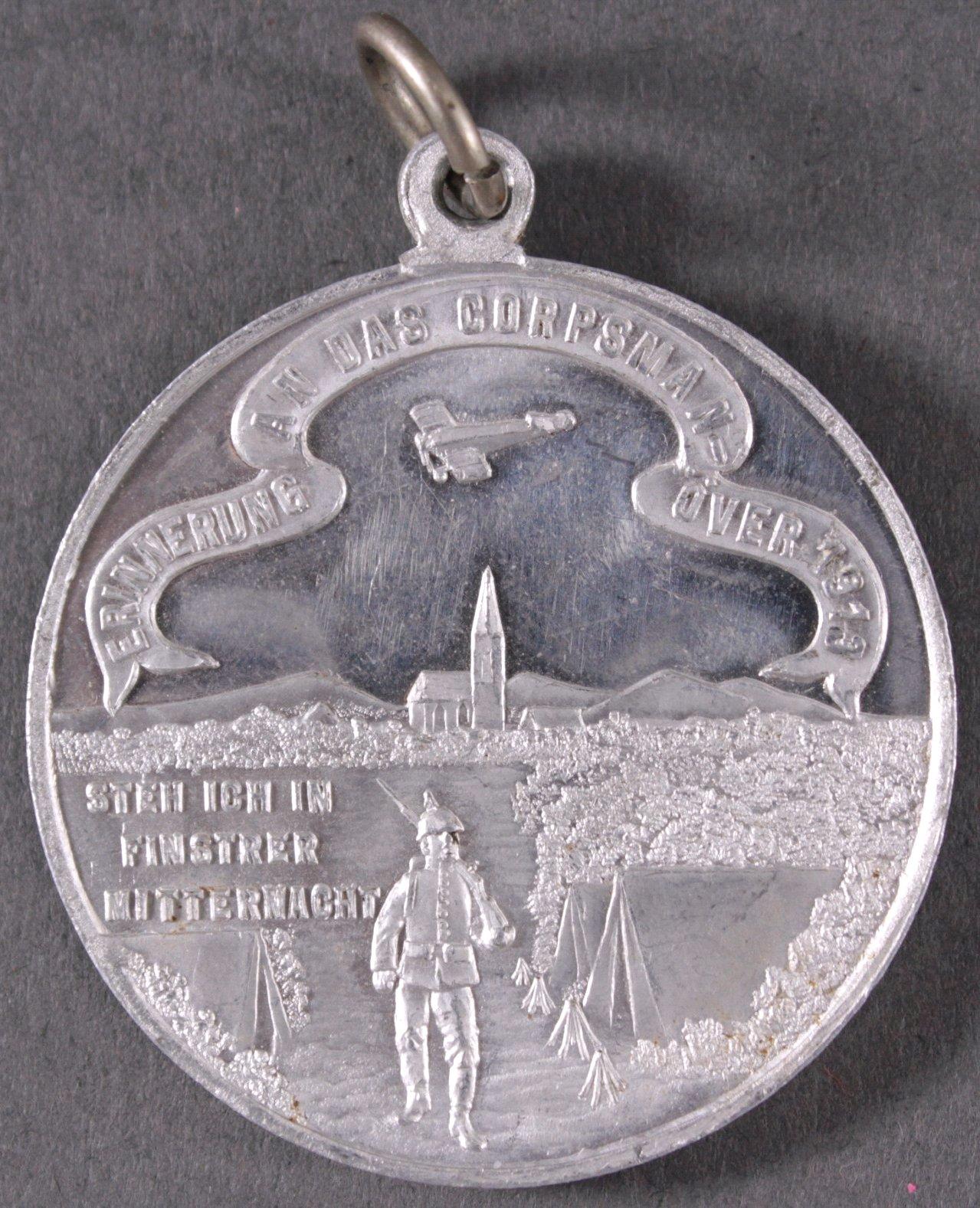 Aluminiummedaille, Corpsmanöver 1913 mit Flugzeug-1