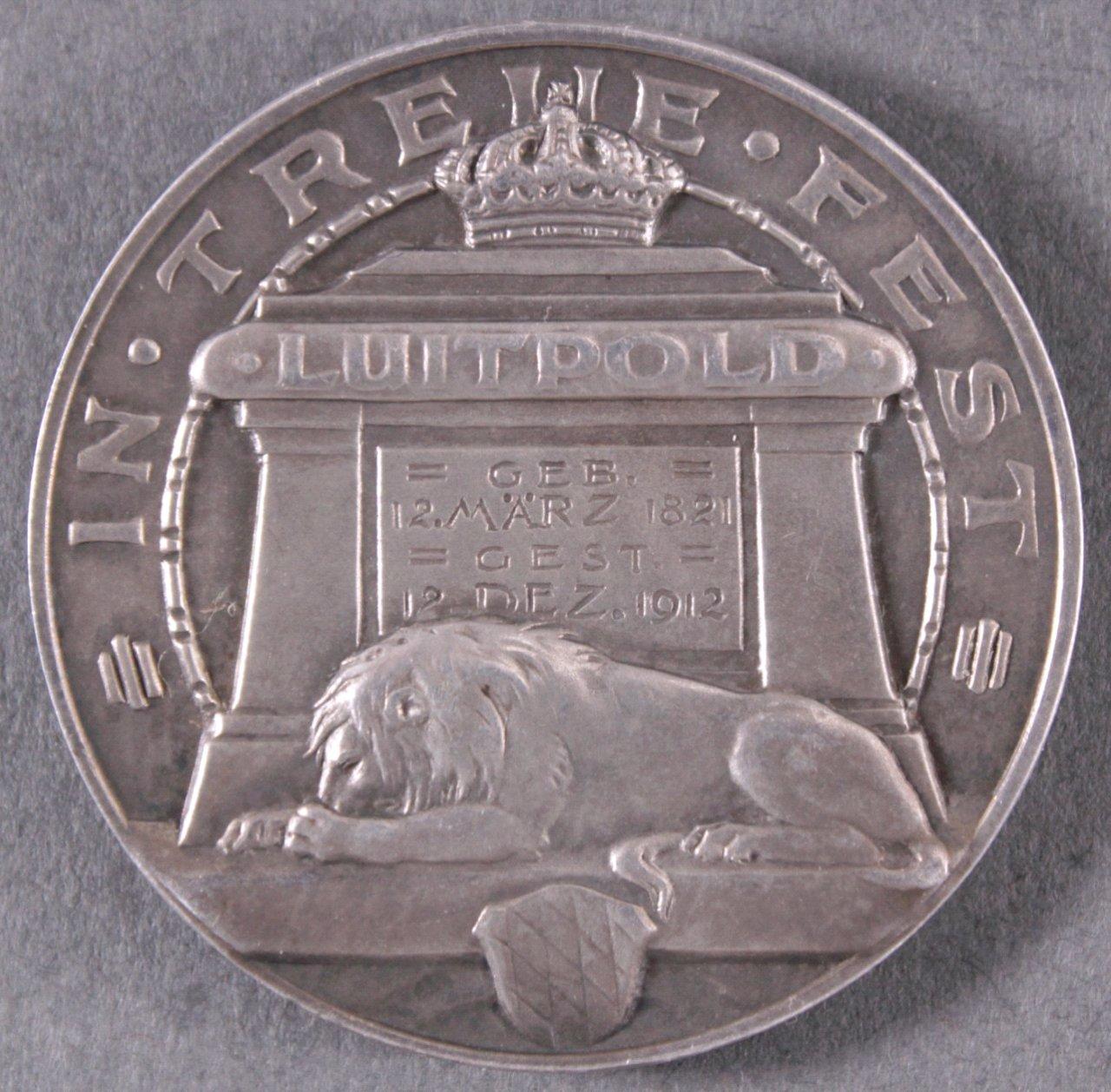 Silbermedaille, Prinzregent Luitpold von Bayern, 1912-1