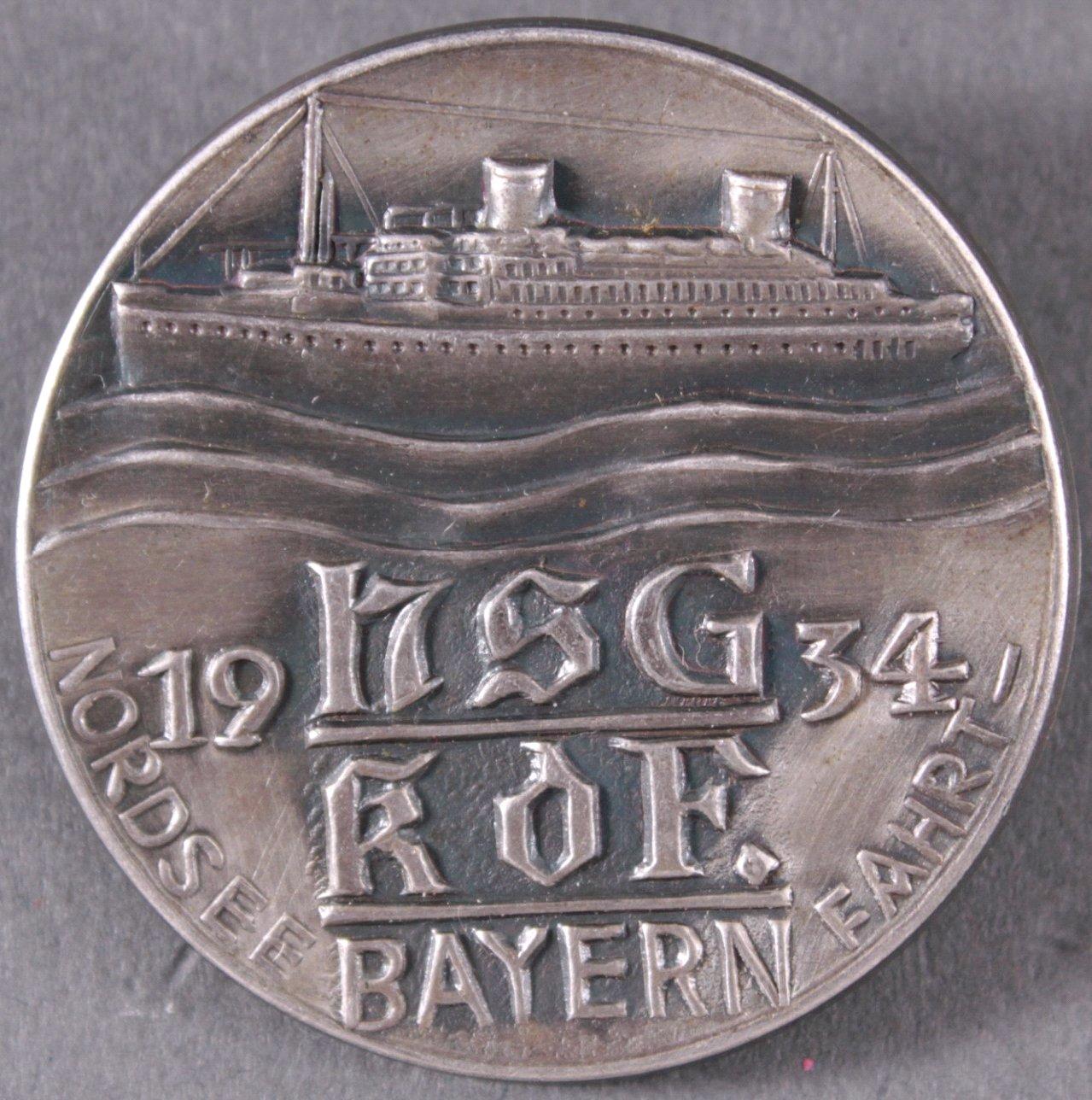 Abzeichen NSG KdF Bayern, Nordseefahrt 1934