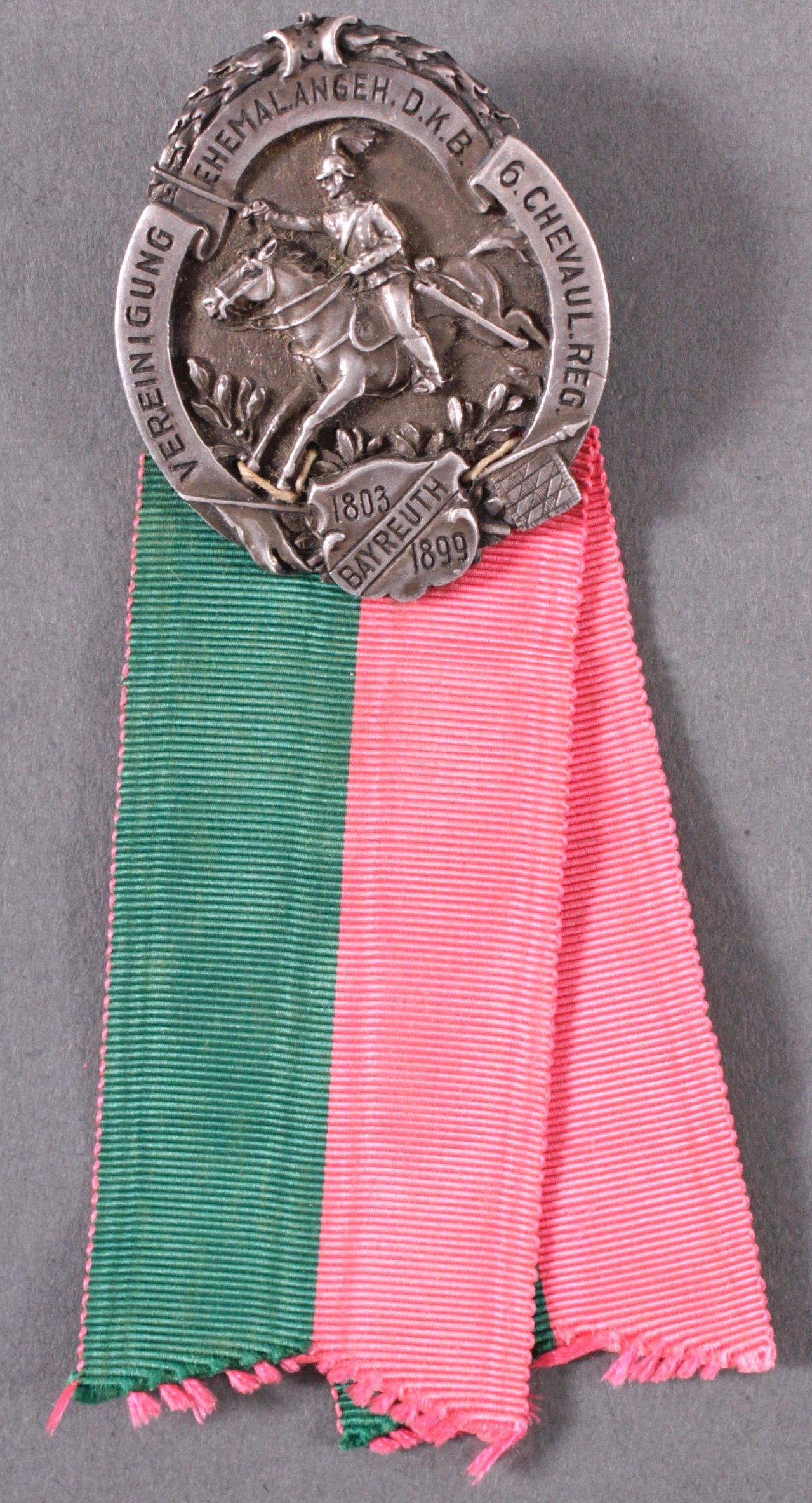 Abzeichen 6. Chevaulegers Regiment Bayreuth 1899