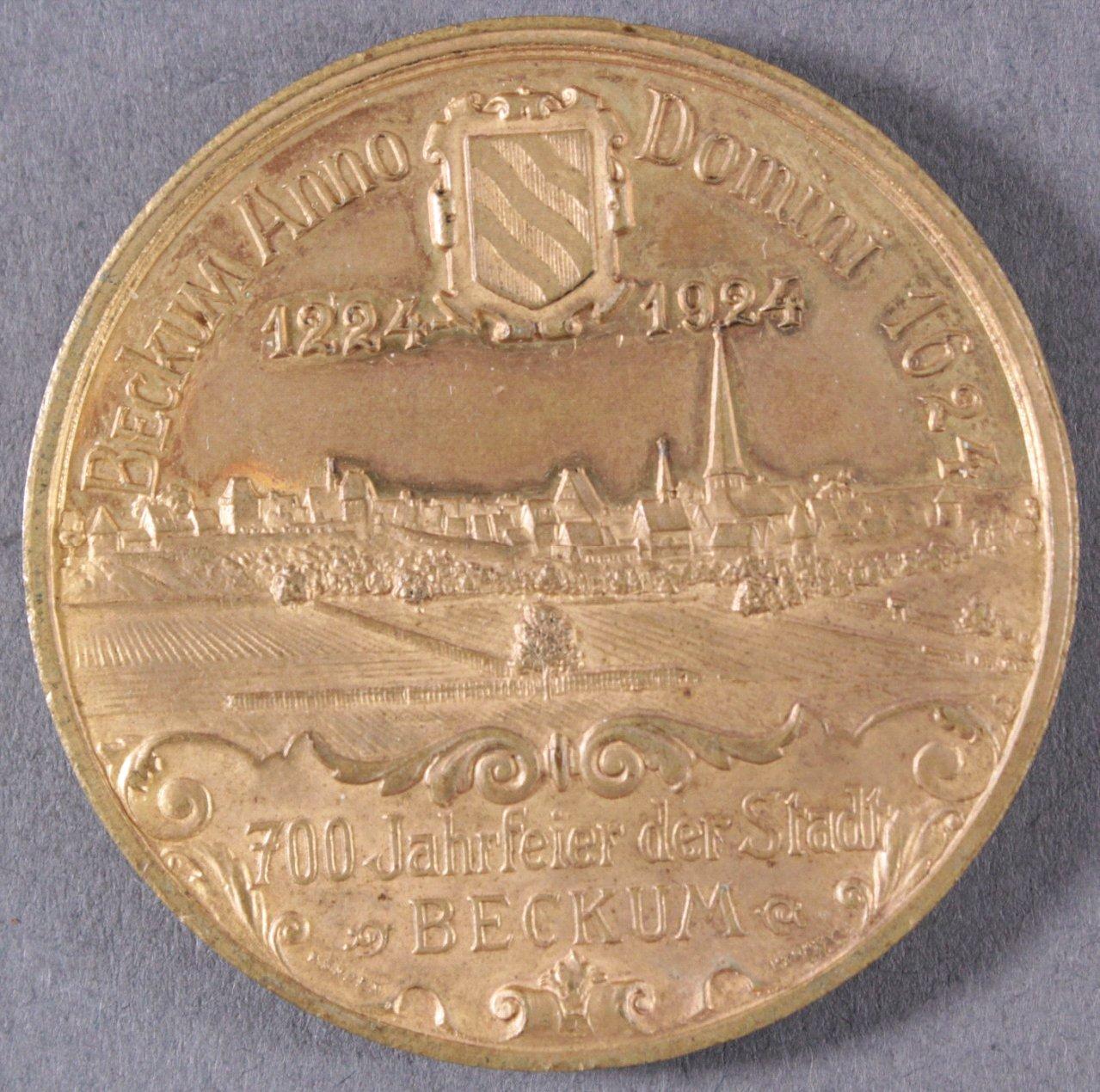 Medaille 700 Jahre Stadt Beckum 1924