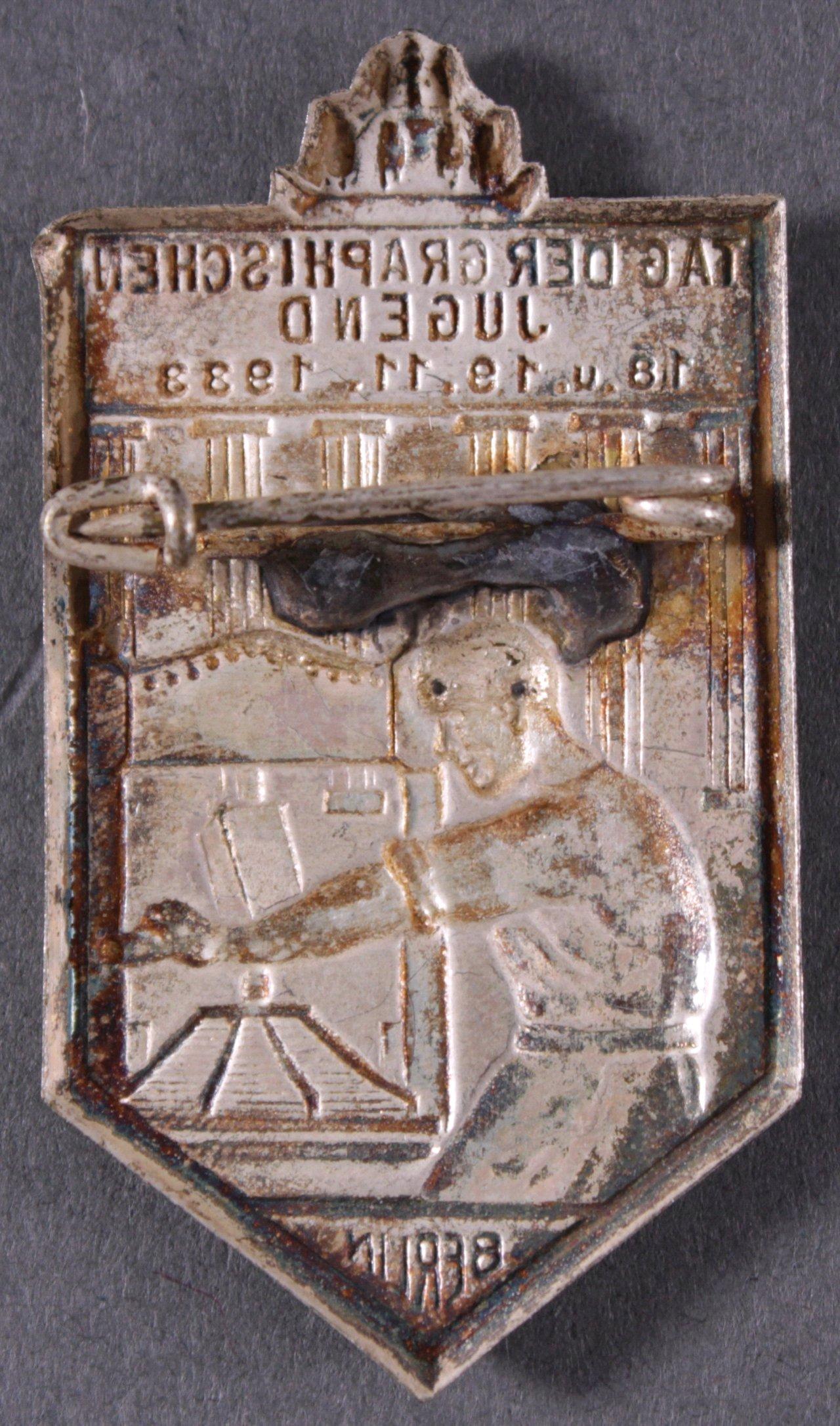Veranstaltungsabzeichen Tag der graphischen Jugend 1933-1
