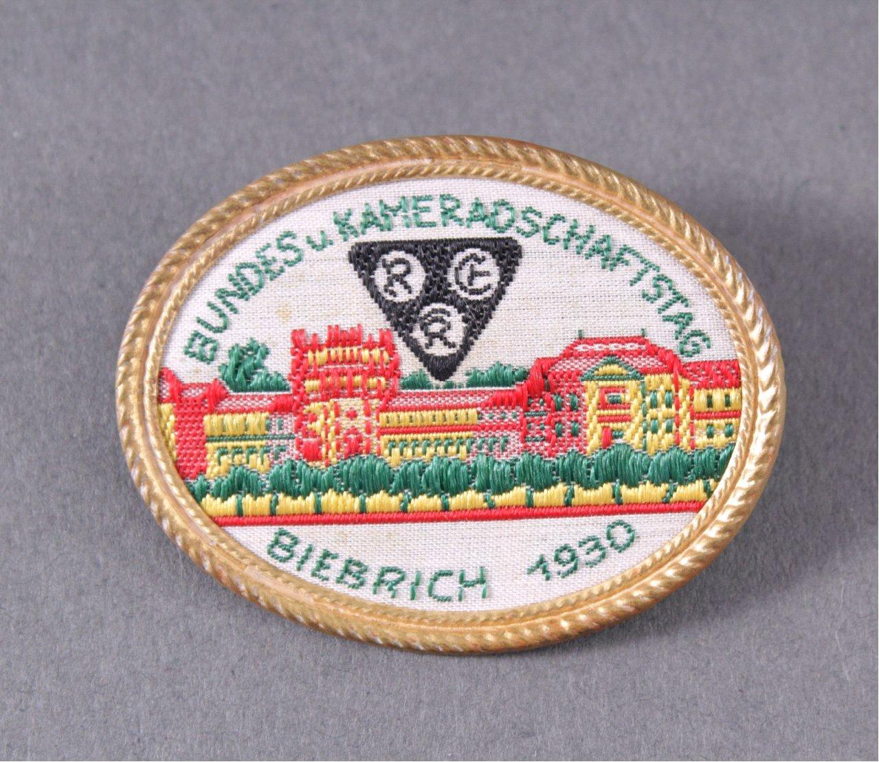 Abzeichen Bundes- und Kameradschaftstag Biebrich 1930