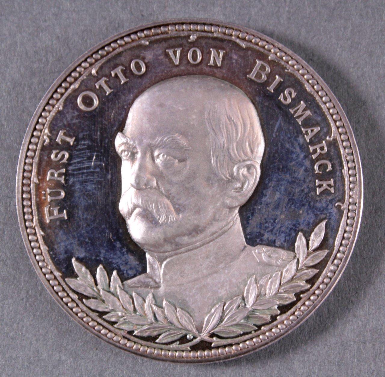 Silber Medaille Bismarck / von Moltke
