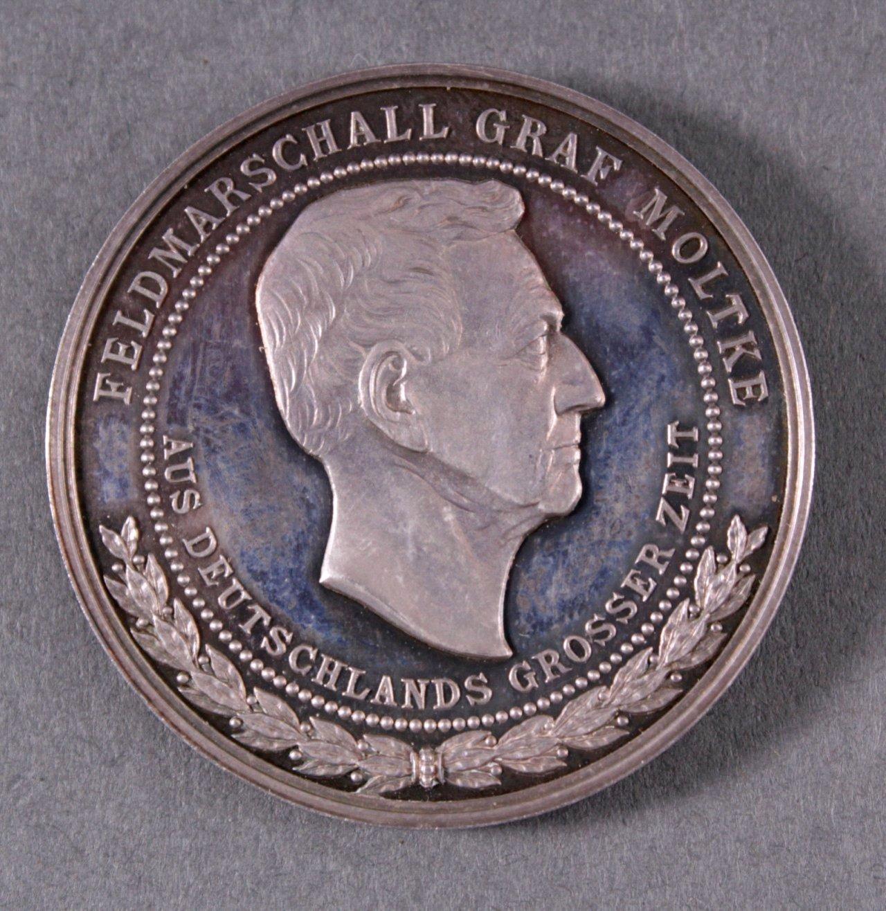 Silber Medaille Bismarck / von Moltke-1