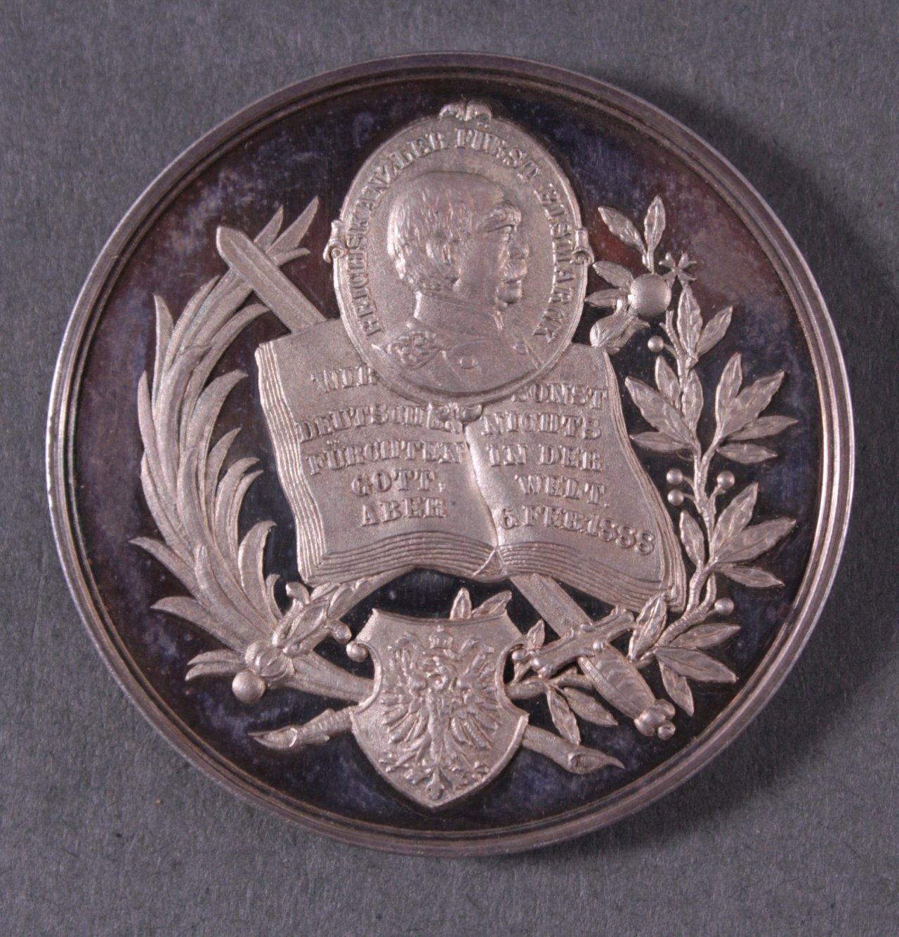 Silber Medaille Fürst Bismarck, 1888-1