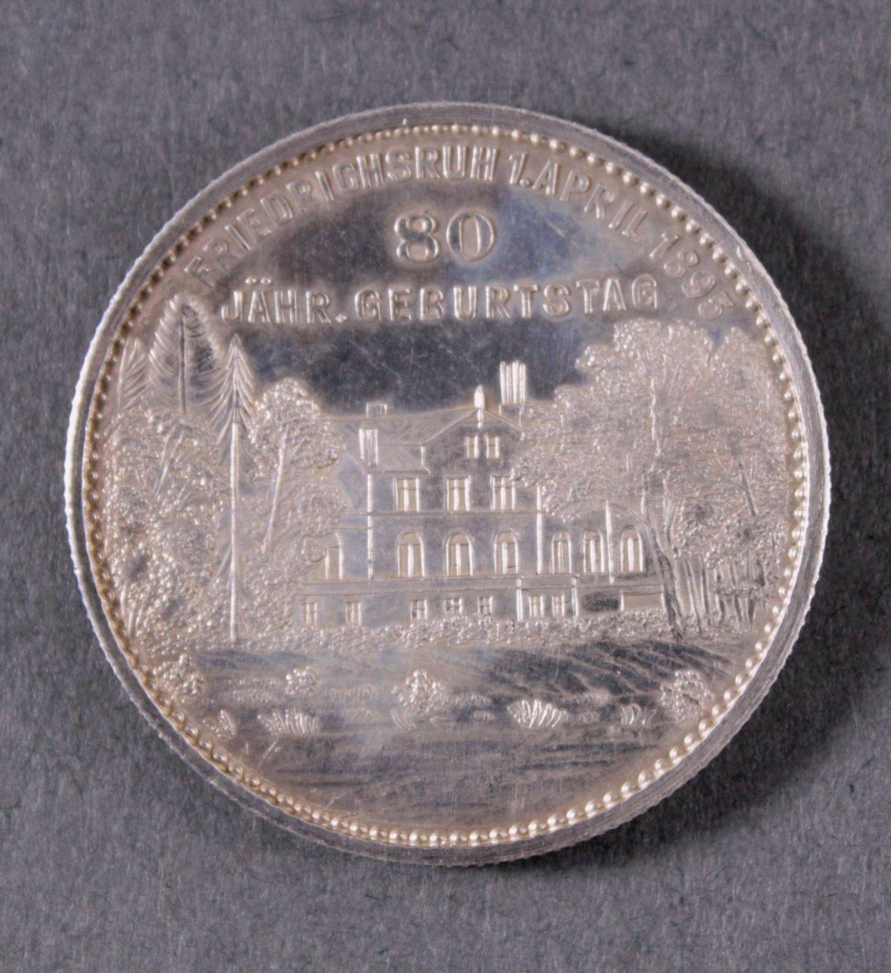 Silber Medaille Fürst Bismarck, 1895-1
