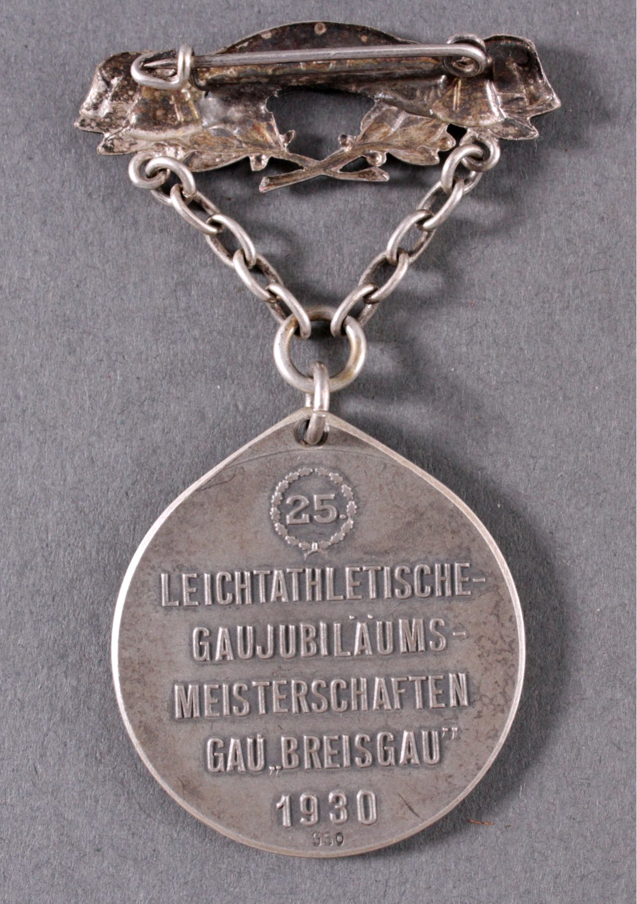 Spange mit Medaille Gaujubiläumsmeisterschaft Breisgau-1