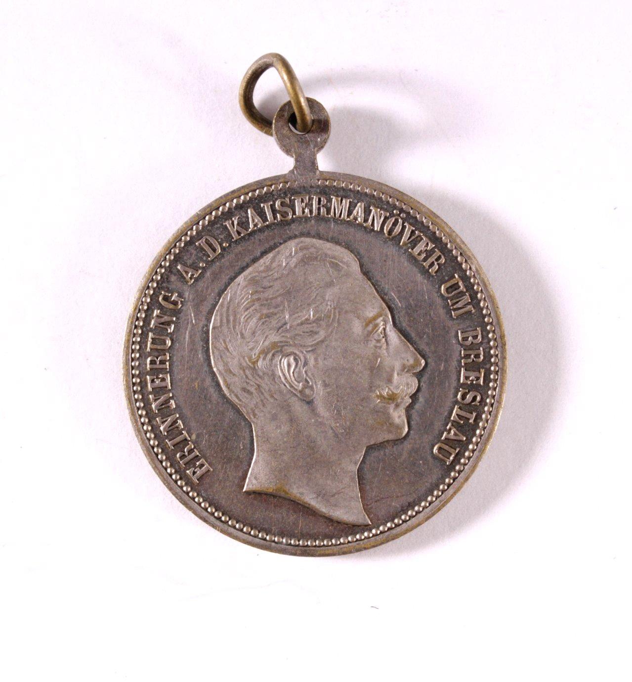 Medaille Erinnerung an das Kaisermanöver Breslau, 1882-1