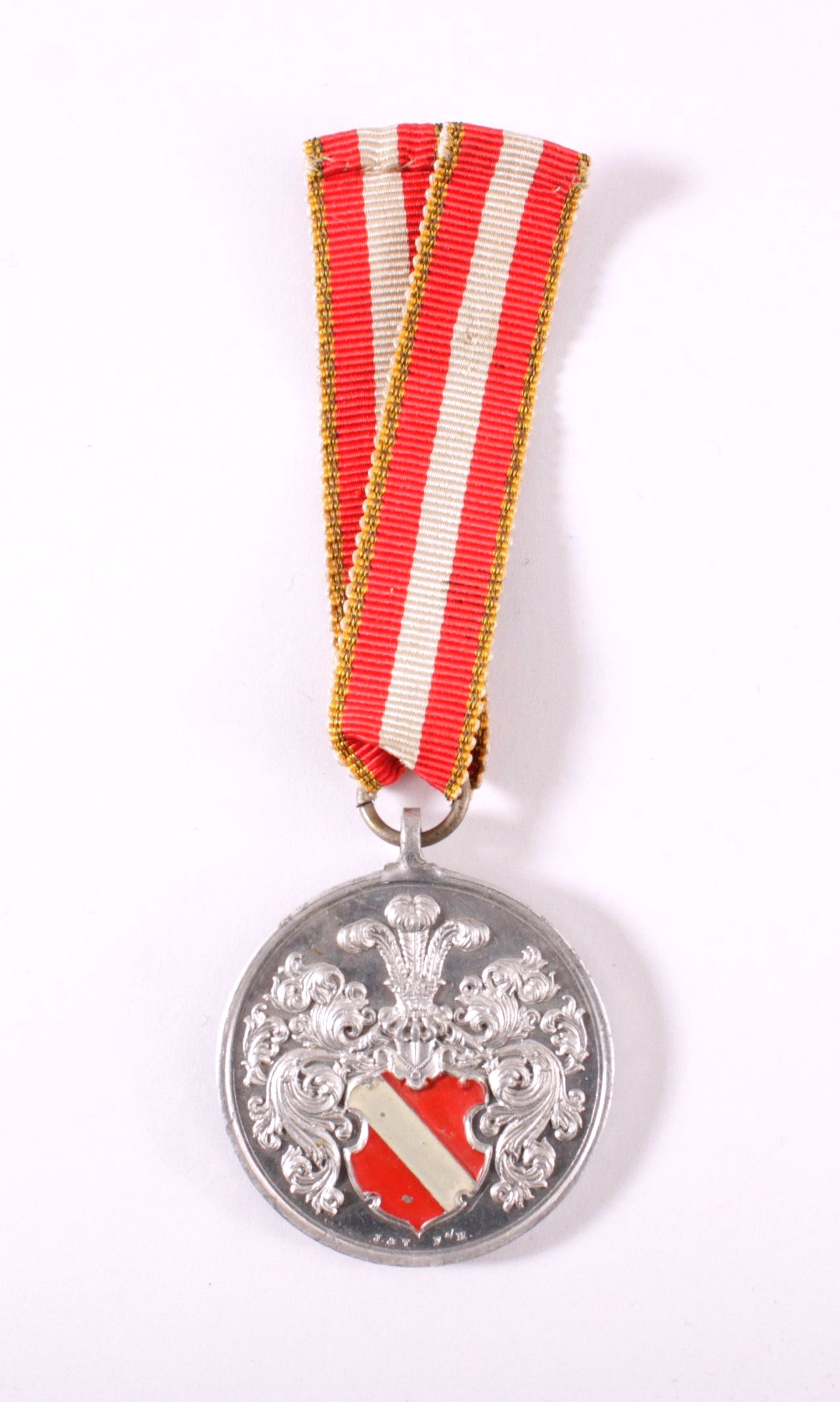Aluminium Medaille Akademischer Verband Darmstadt 1912