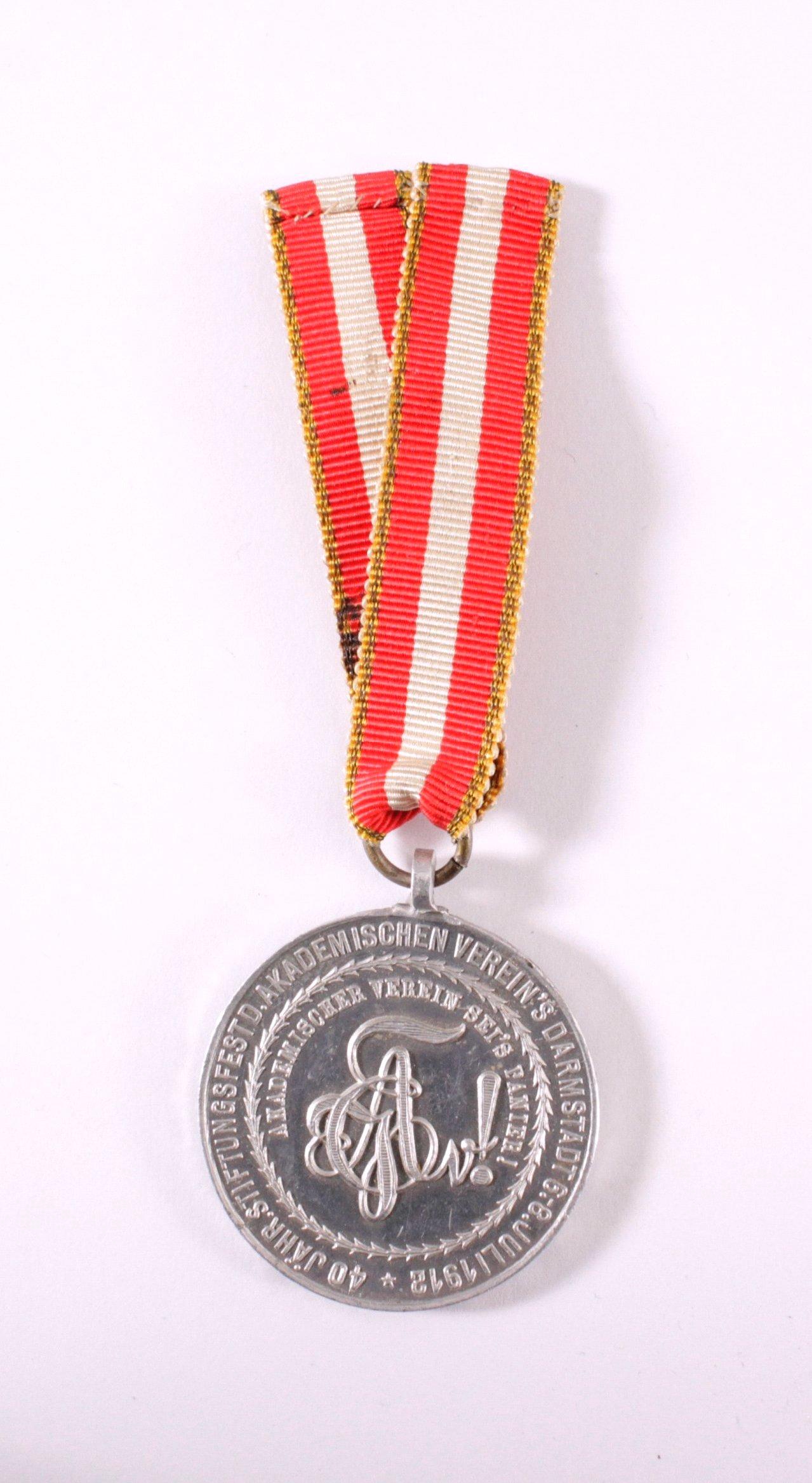 Aluminium Medaille Akademischer Verband Darmstadt 1912-1
