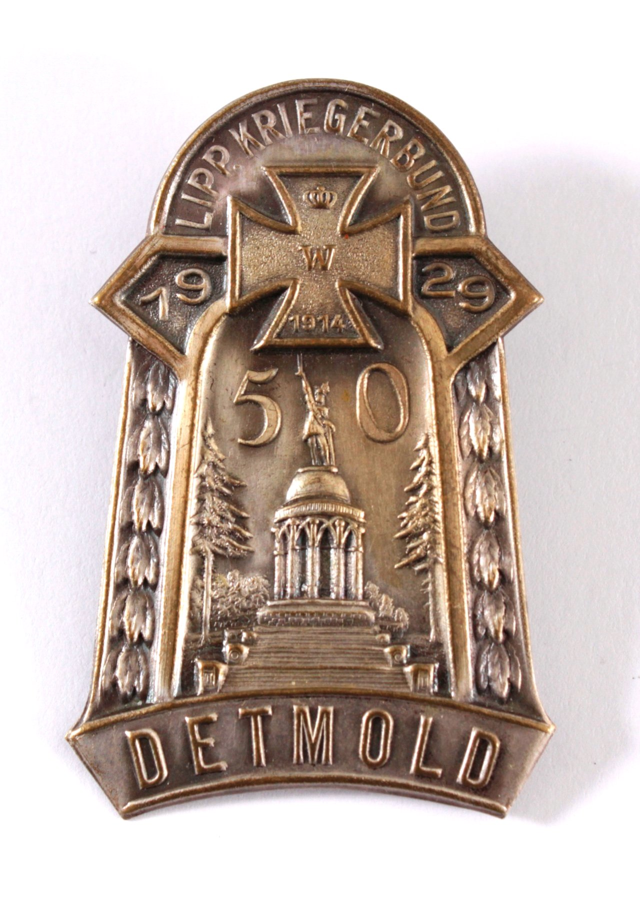Abzeichen 50 Jahre Lipp Kriegerbund Detmold 1929