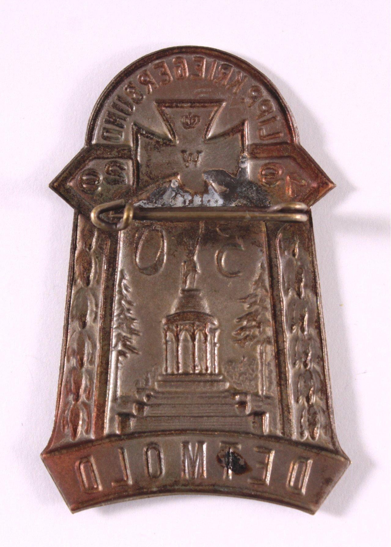 Abzeichen 50 Jahre Lipp Kriegerbund Detmold 1929-1