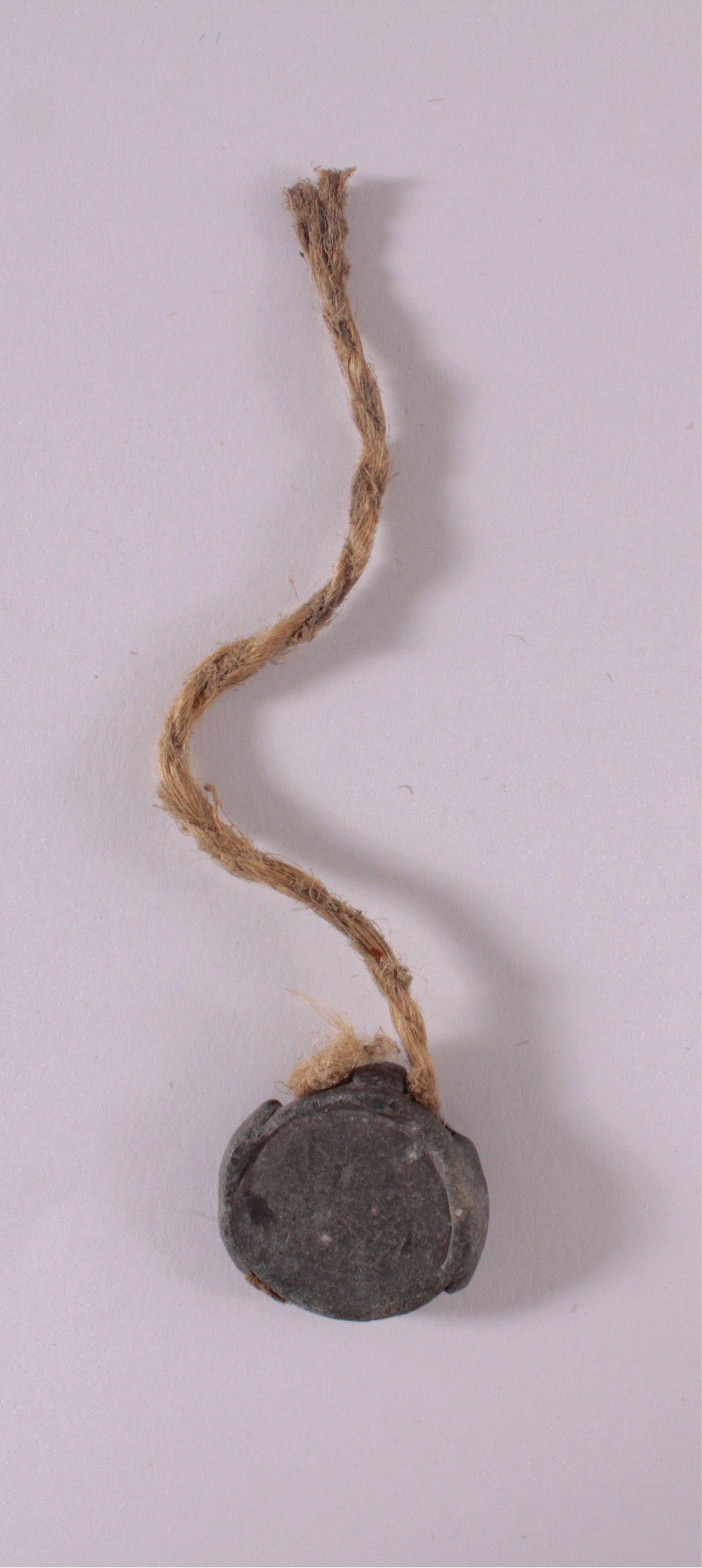 Sammelbüchsen Plombe mit DLV Symbol