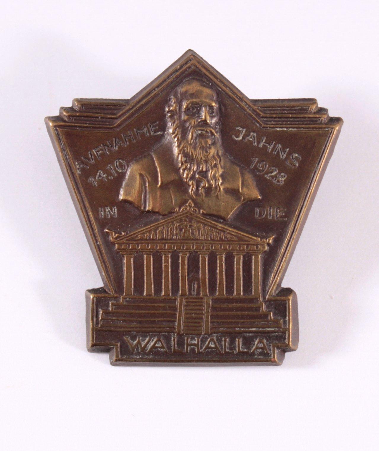Abzeichen Aufnahme Jahns in die Walhalla 1928