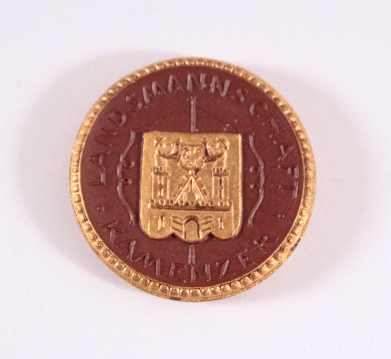 Steinzeug Medaille Kamenzer Landsmannschaft Dresden 1922