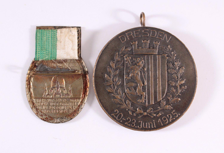 2 Abzeichen 1. Sächsisches Sängerbundesfest 1925-1
