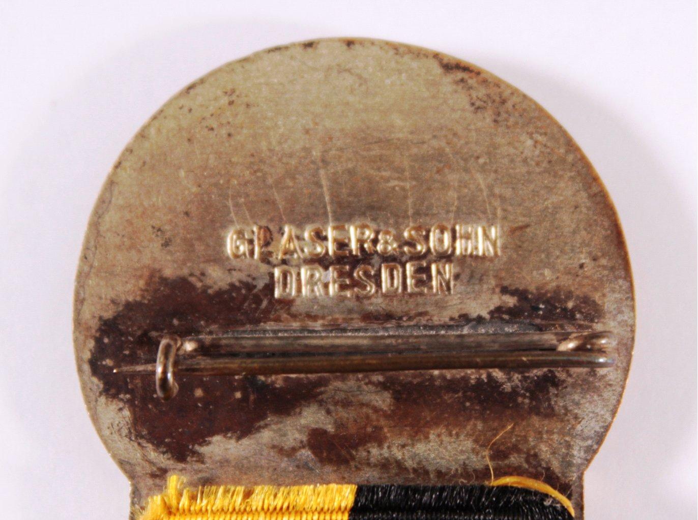 Veranstaltungsabzeichen 43. BDR Bundesfest Dresden 1926-2