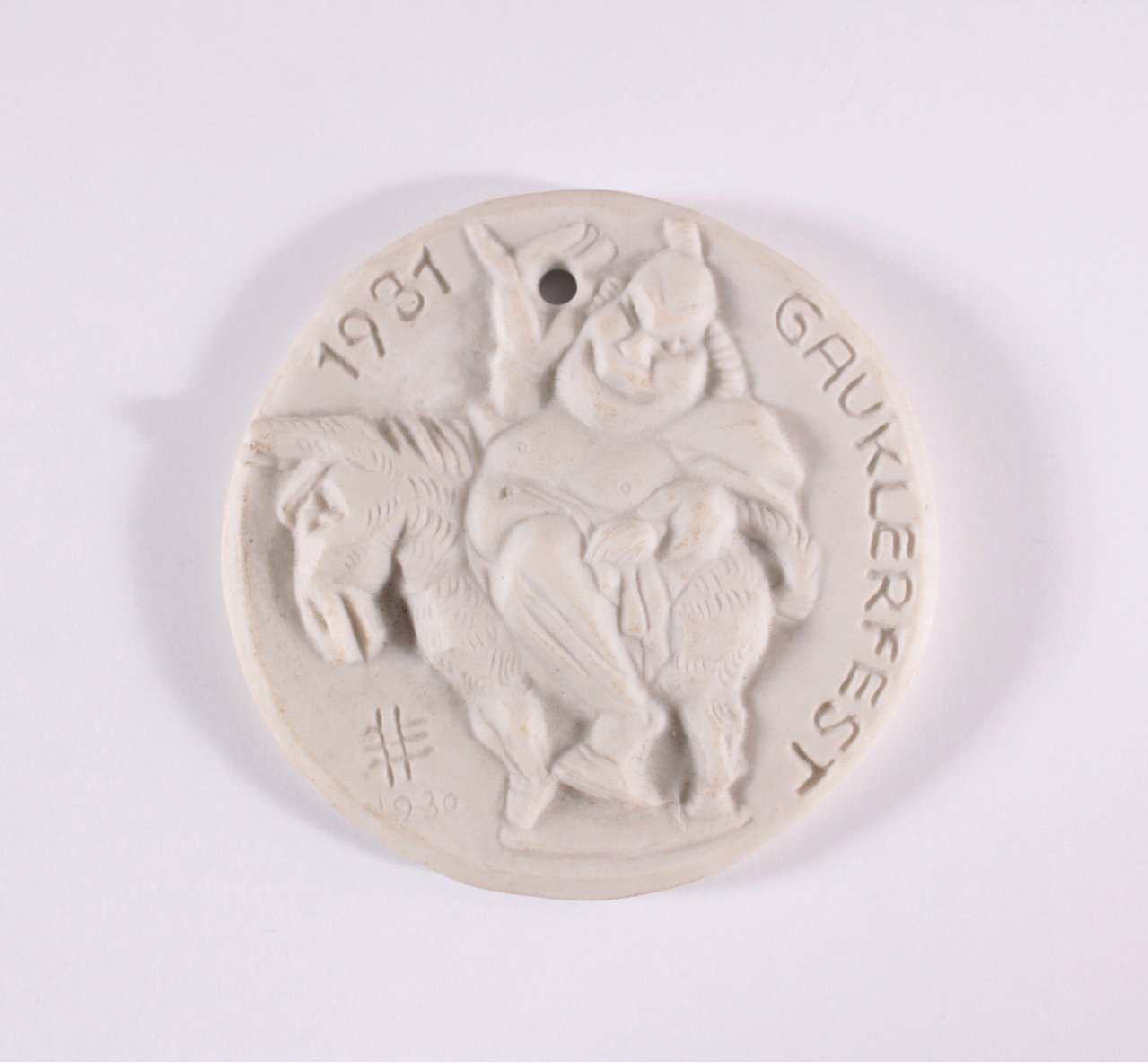 Gipsform Medaille Gauklerfest 1931 Dresden