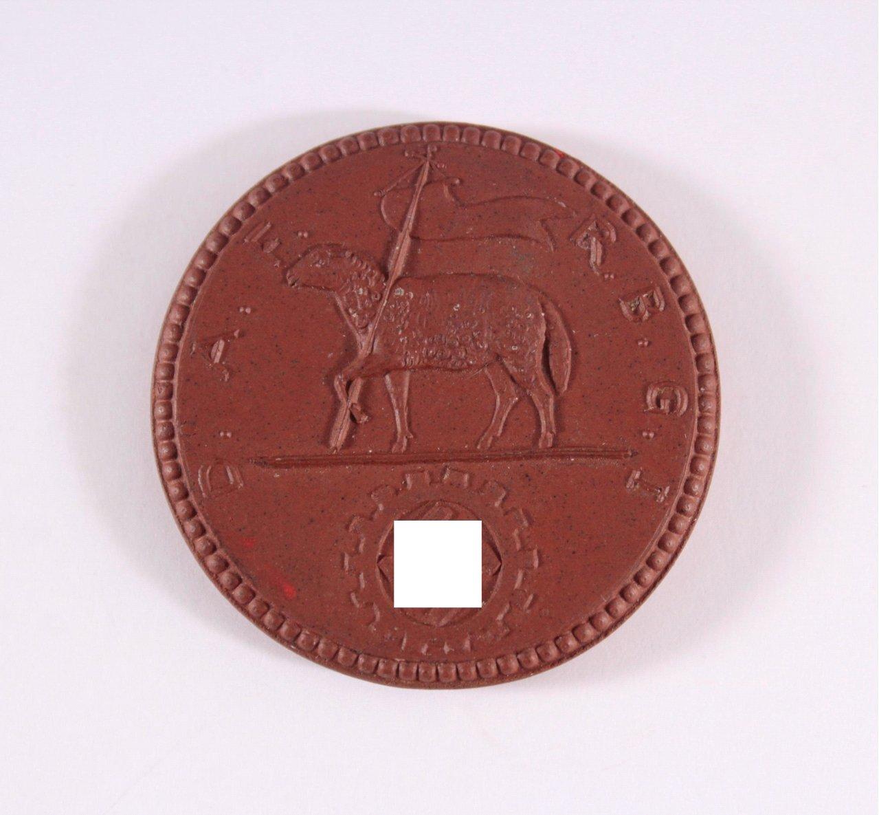 Steinzeug Medaille DAF RGBI 1934 Dresden