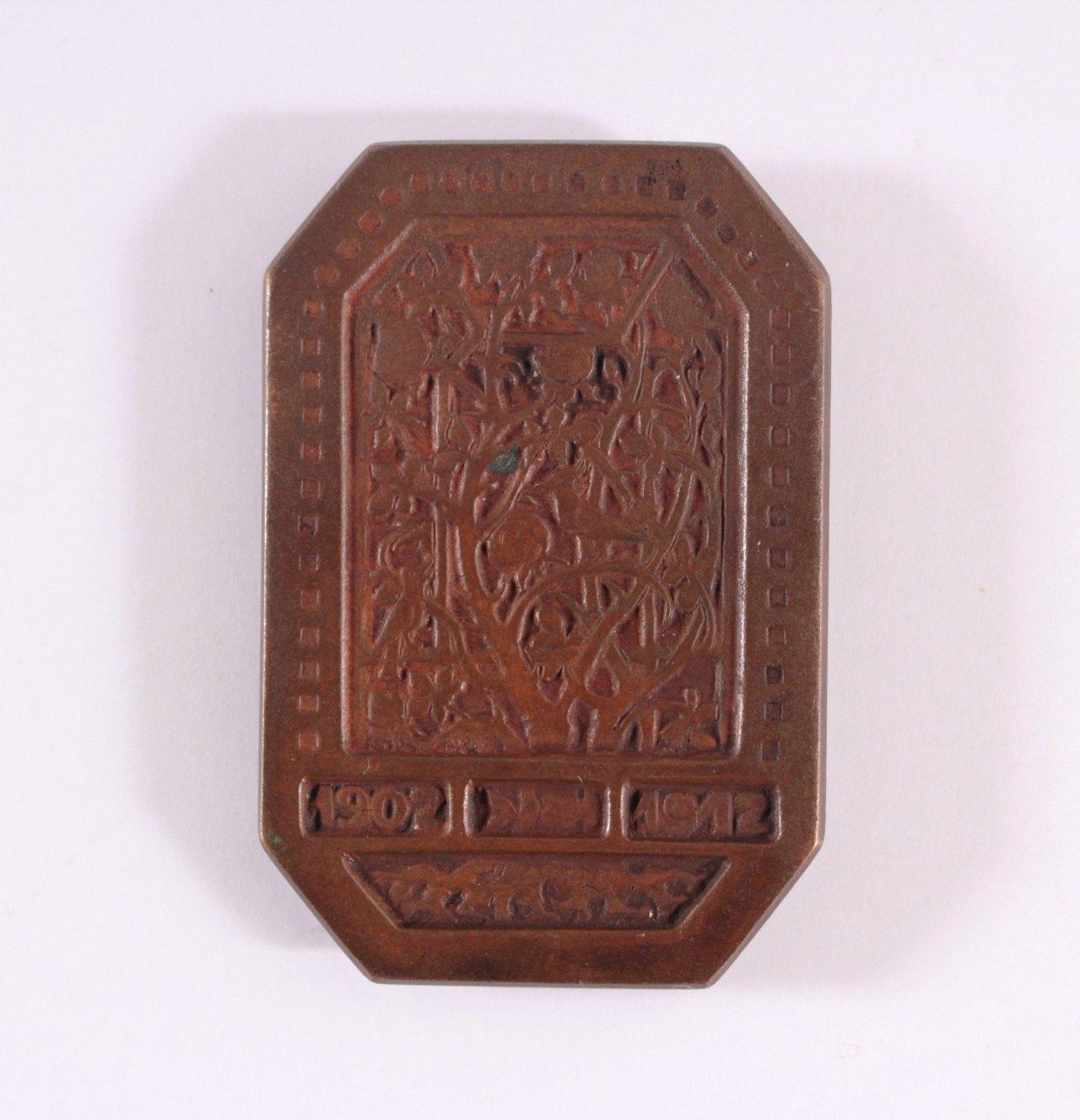 Plakette 10 Jahre Dürer Bund, 1902-1912-1