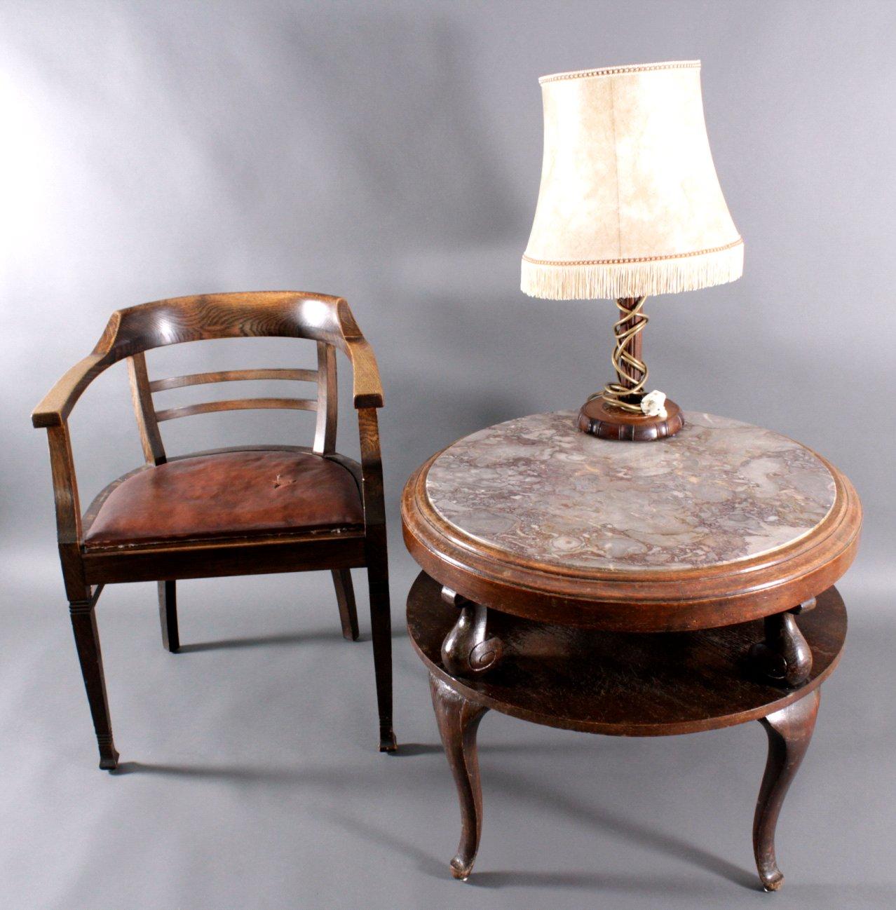 tisch und lampe 30er jahre badisches auktionshaus. Black Bedroom Furniture Sets. Home Design Ideas