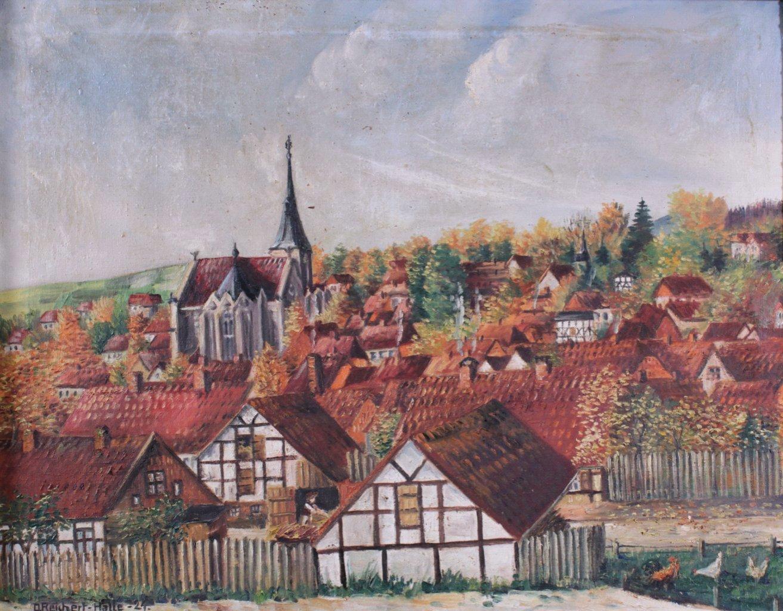 """D. Reichert-Halle. """"Ansicht von Elbingerode""""-1"""