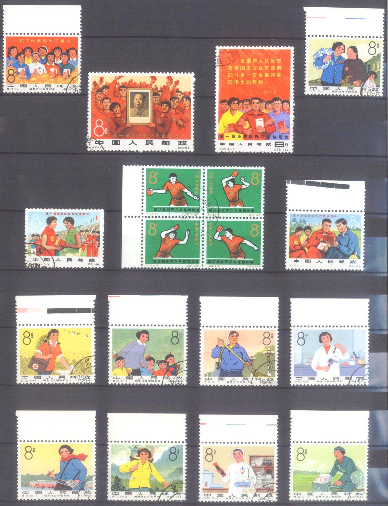 VOLKSREPUBLIK CHINA 1965/66, Sportfest, Frauen, Tischtennis