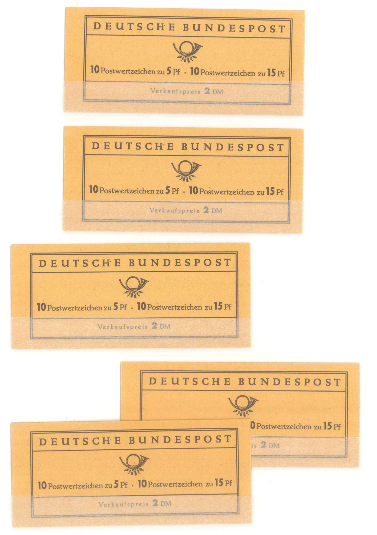 BUND – MARKENHEFTCHEN 1961 – 1965, Katalogwert 270,- Euro-1
