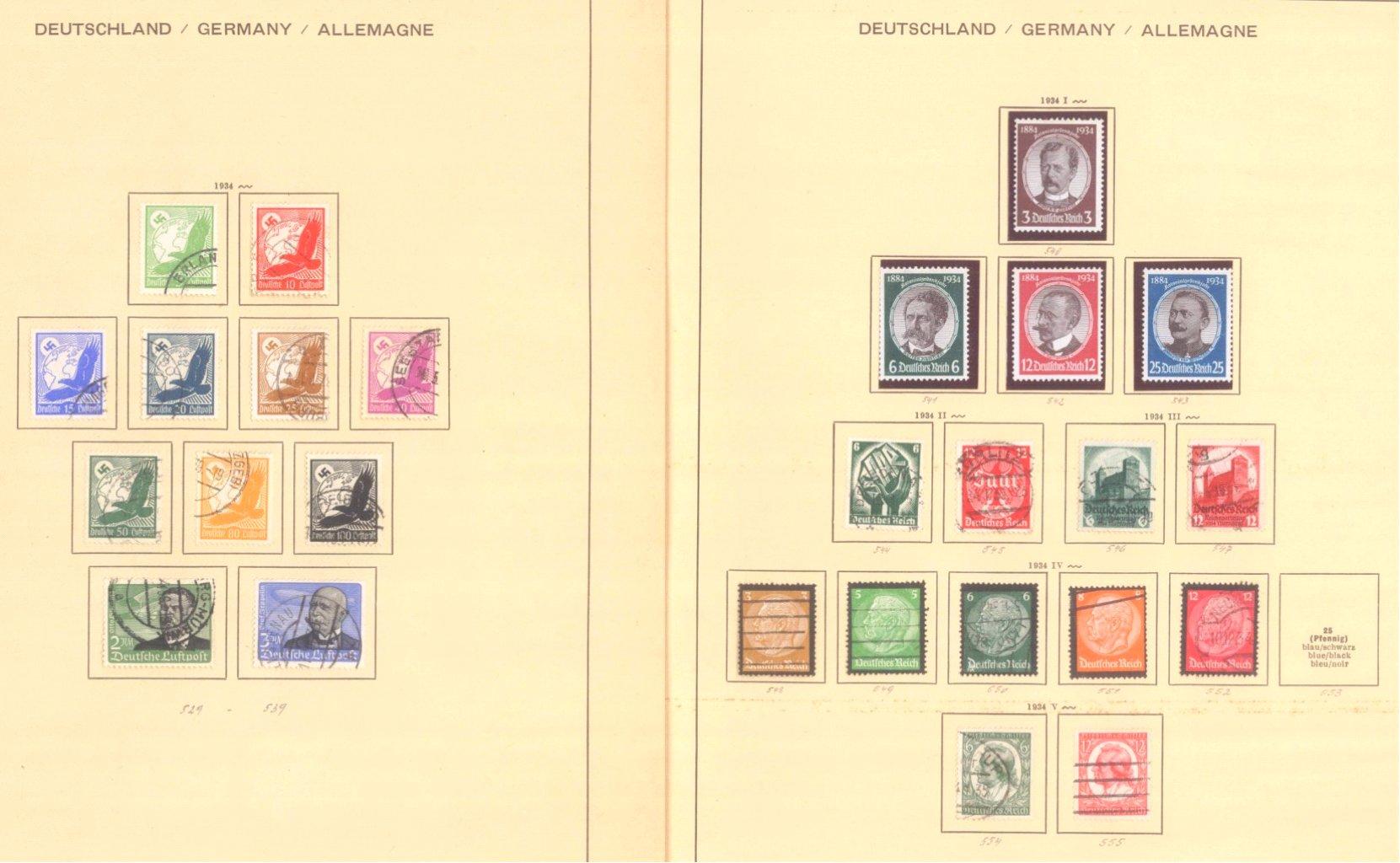 III. REICH 1934 bis 1945, mit OSTROPA – Block