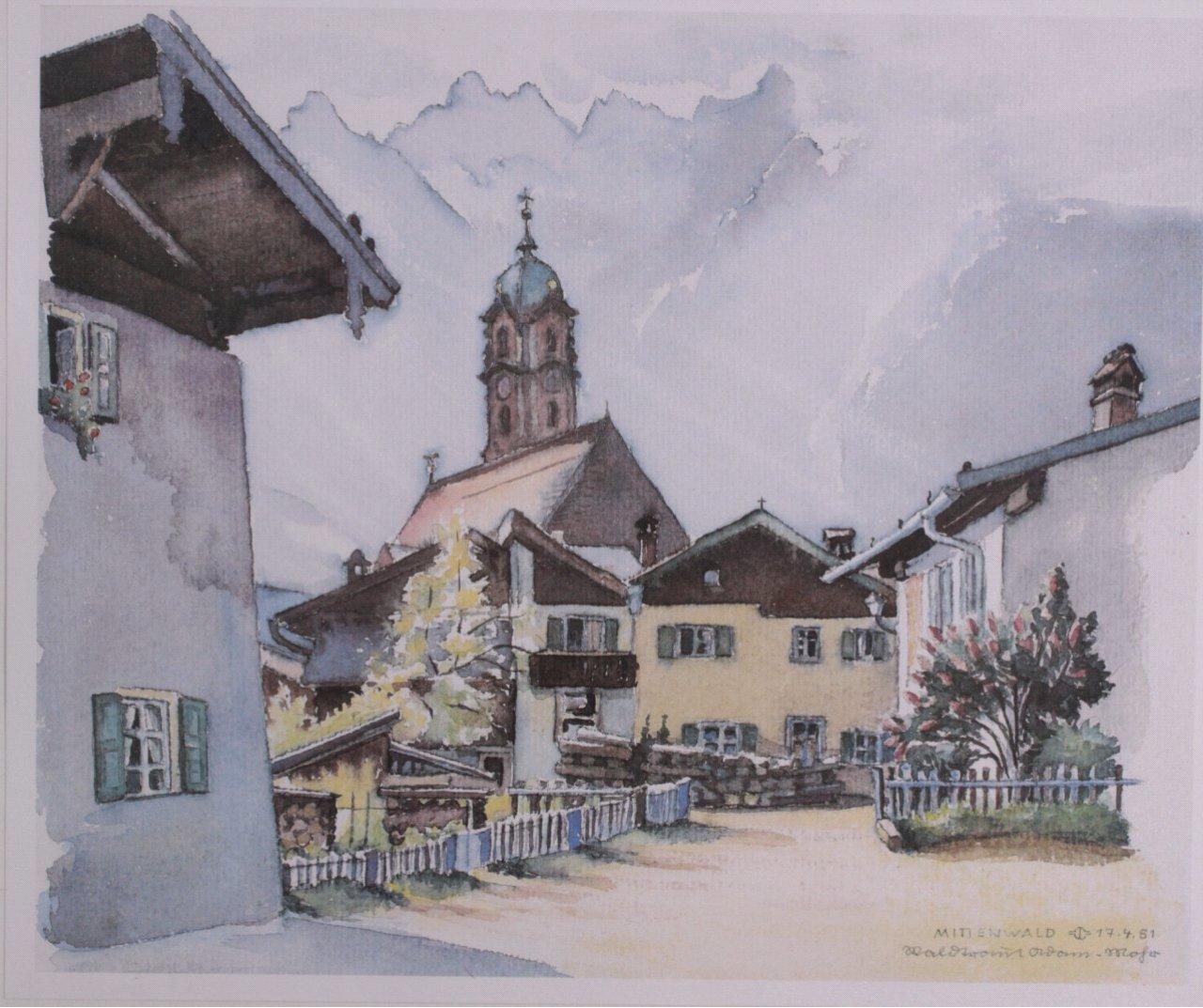 Bauer ?-?, Bilderserie von insg. 8 Gemälden-1