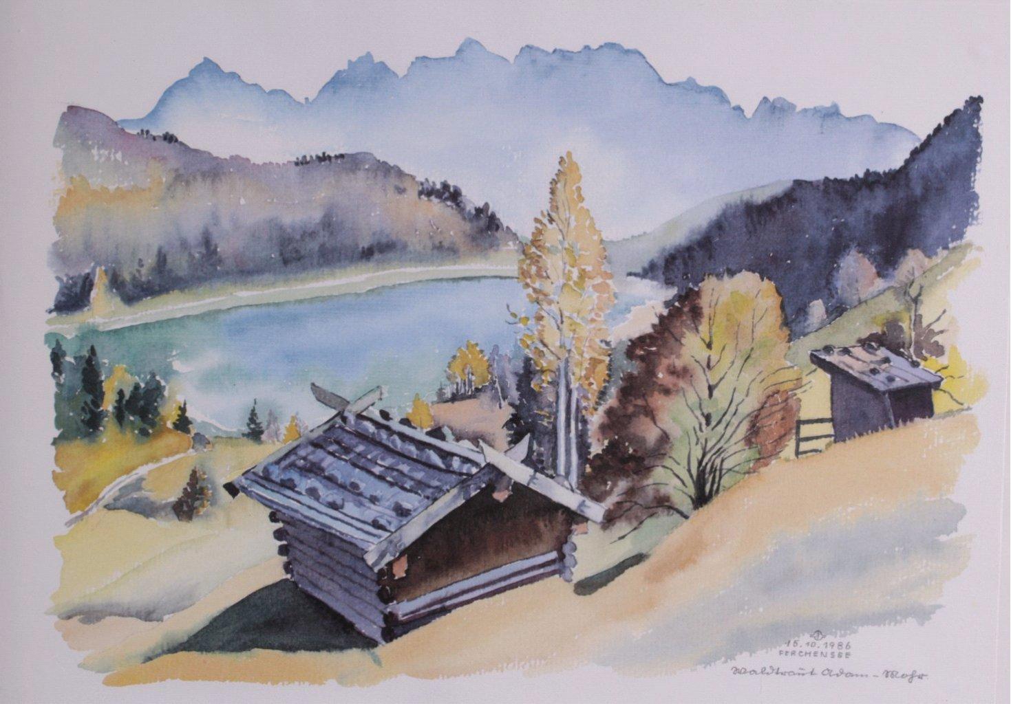 Bauer ?-?, Bilderserie von insg. 8 Gemälden-3