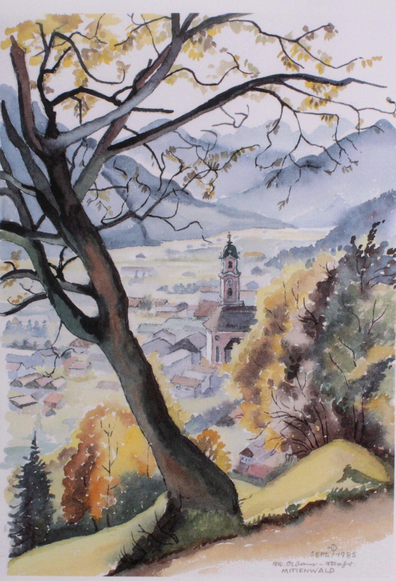 Bauer ?-?, Bilderserie von insg. 8 Gemälden-7