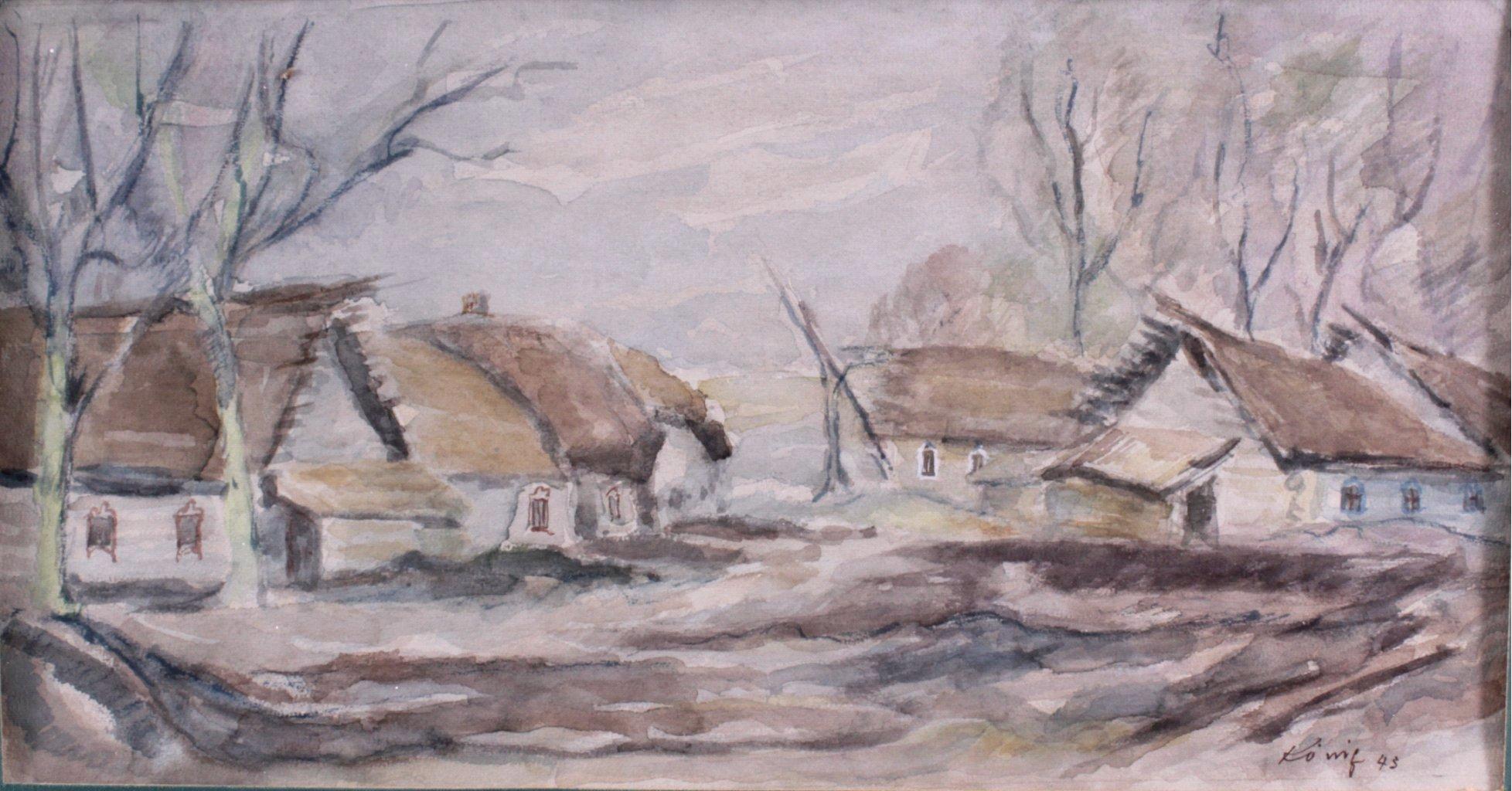 Kurt König 1915-1999, 6 Aquarelle, Russische Landschaft-2