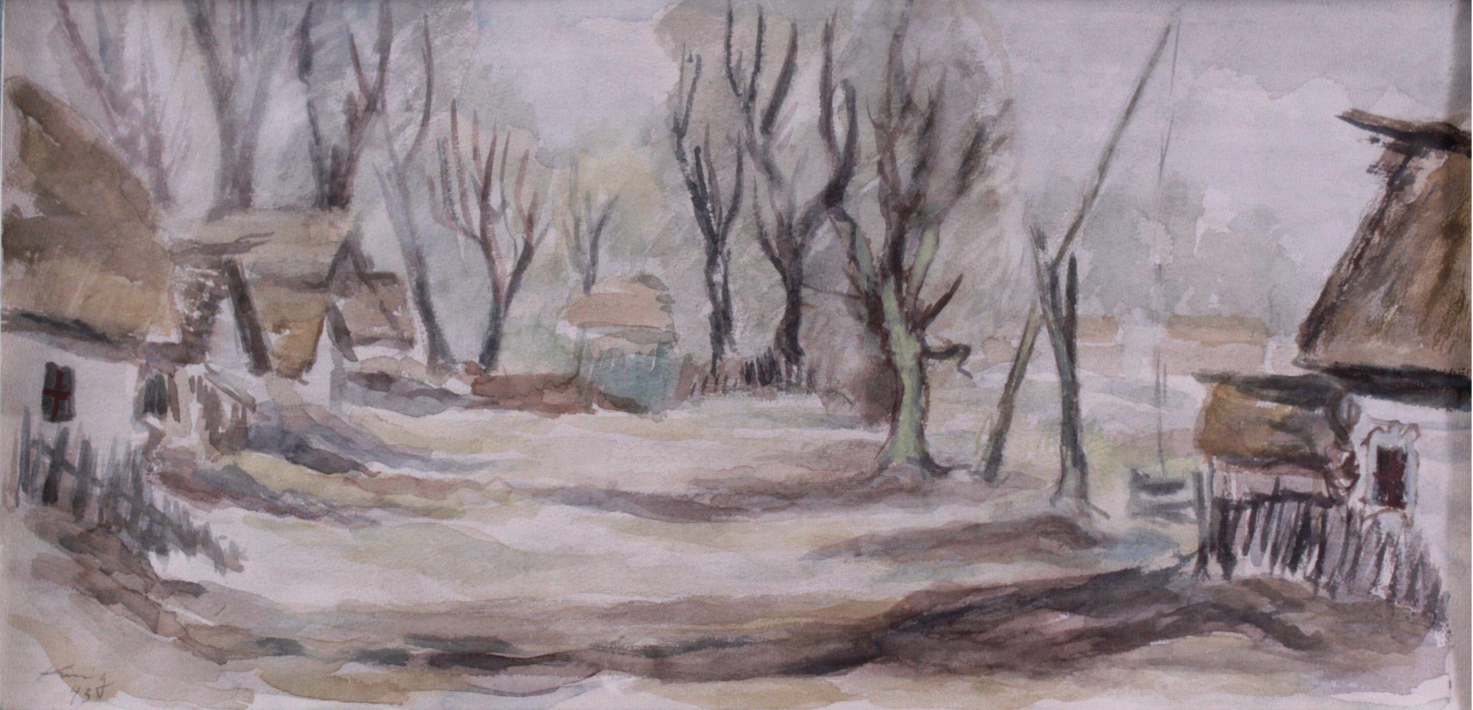 Kurt König 1915-1999, 6 Aquarelle, Russische Landschaft-3