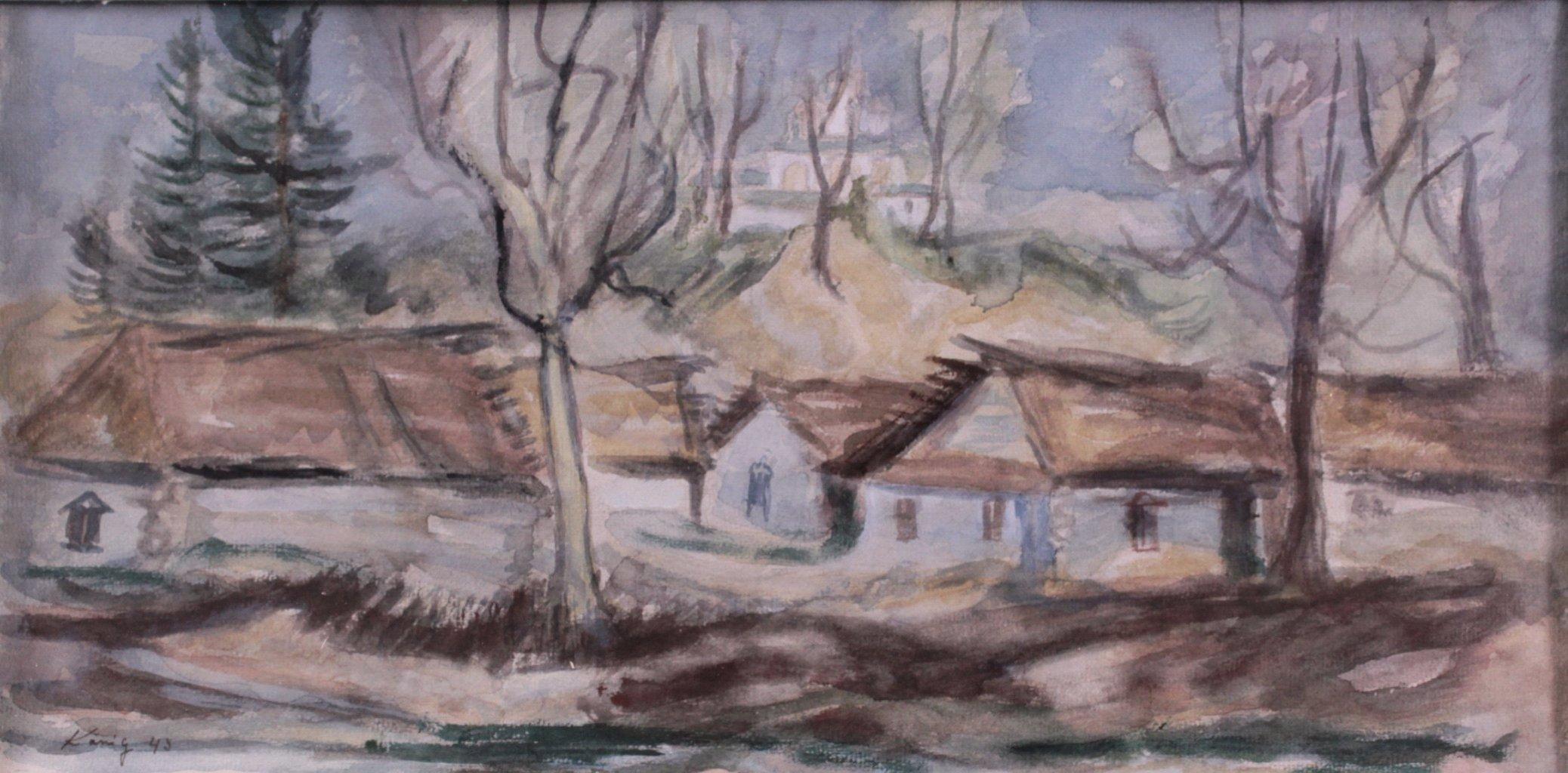 Kurt König 1915-1999, 6 Aquarelle, Russische Landschaft-5