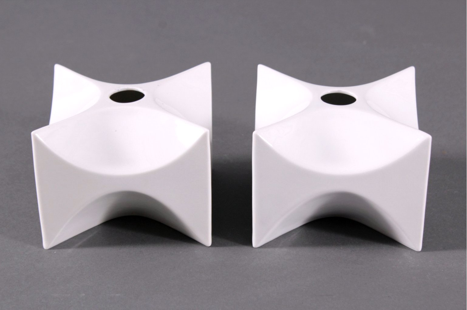 KPM Würfelvase/Leuchter, Design Quillmann