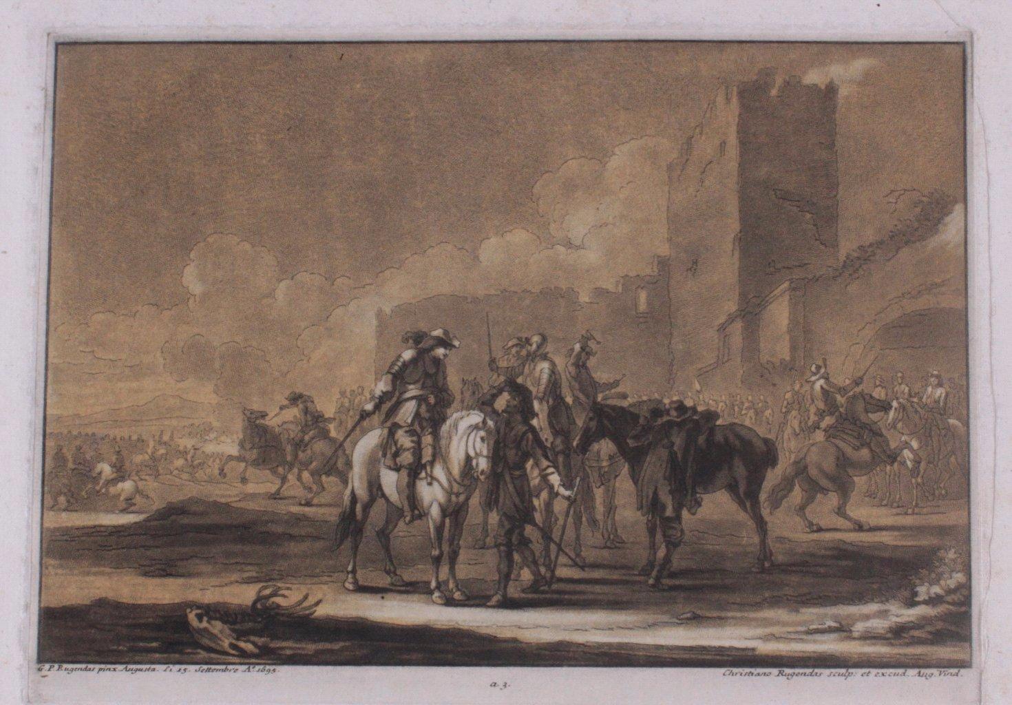 Johannes Christian Rugendas (1708 – 1781)- 4 Radierungen