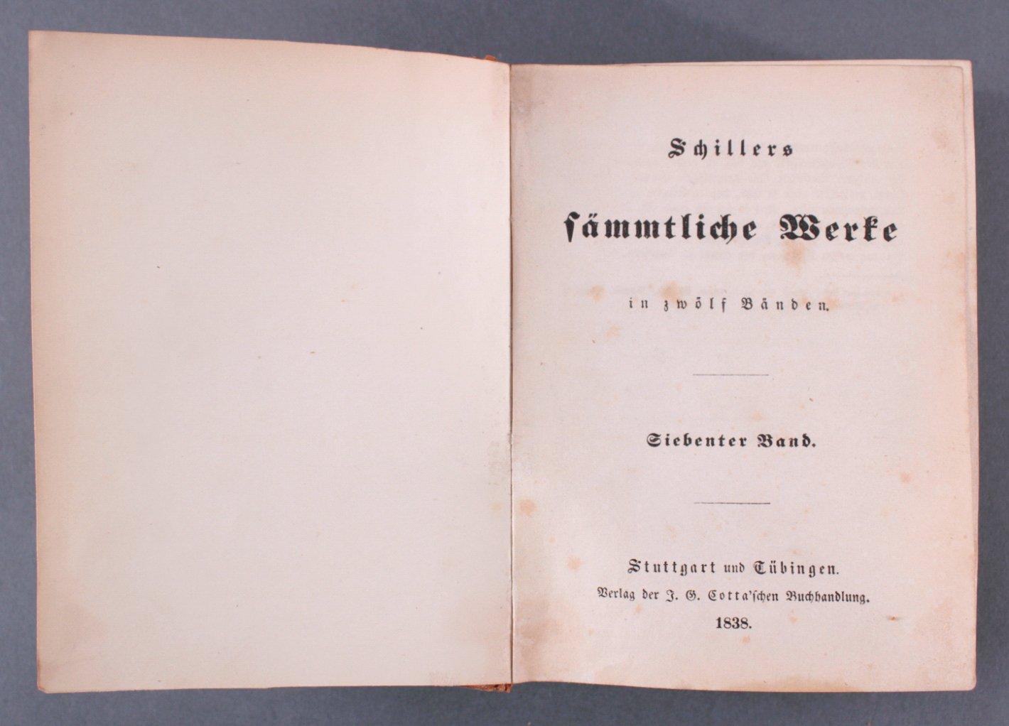 8 Bände aus Schillers sämmtliche Werke in zwölf Bänden, 1868-2