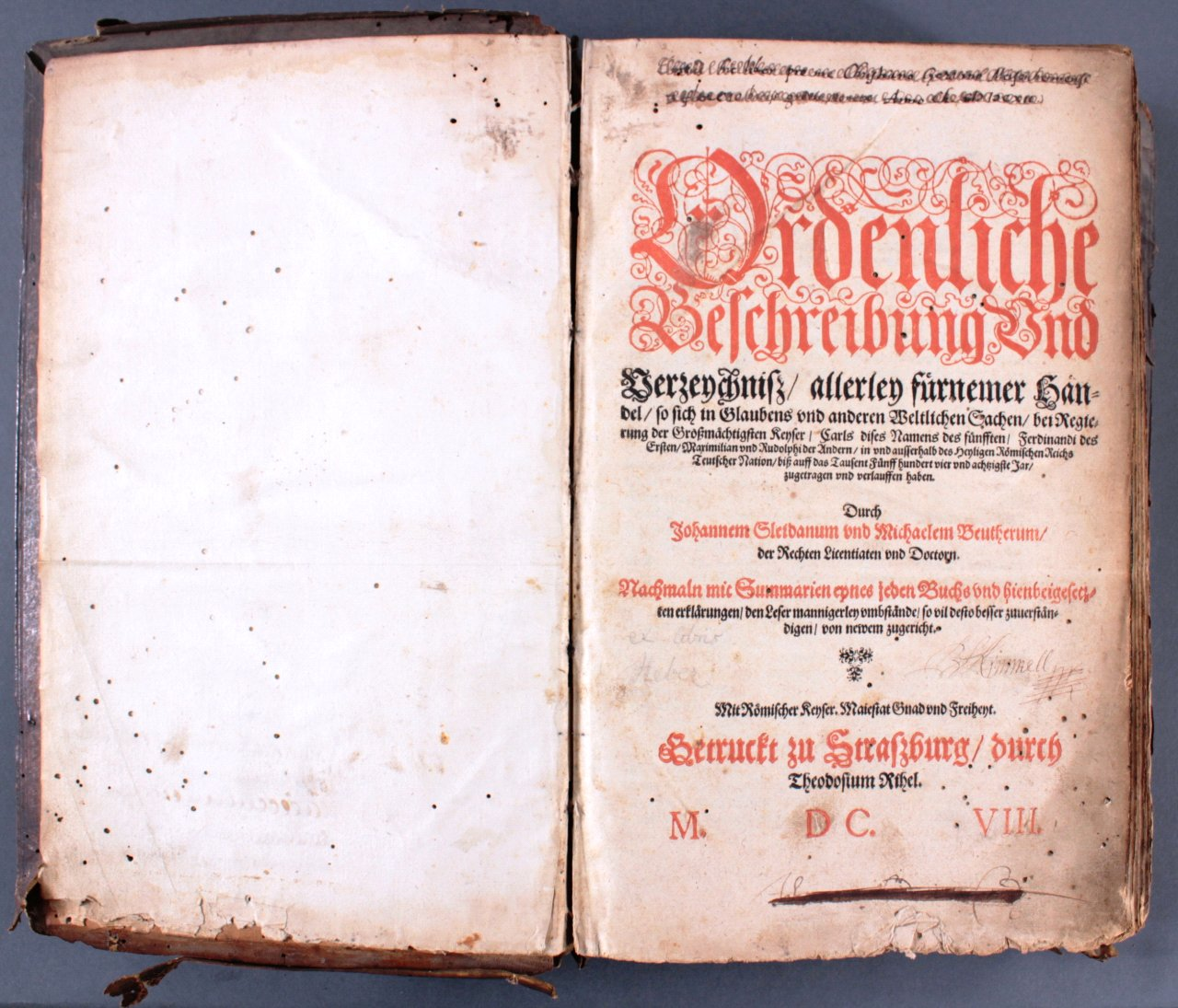 Antiquarisches Buch, Johannes Sleidanus 1608-1