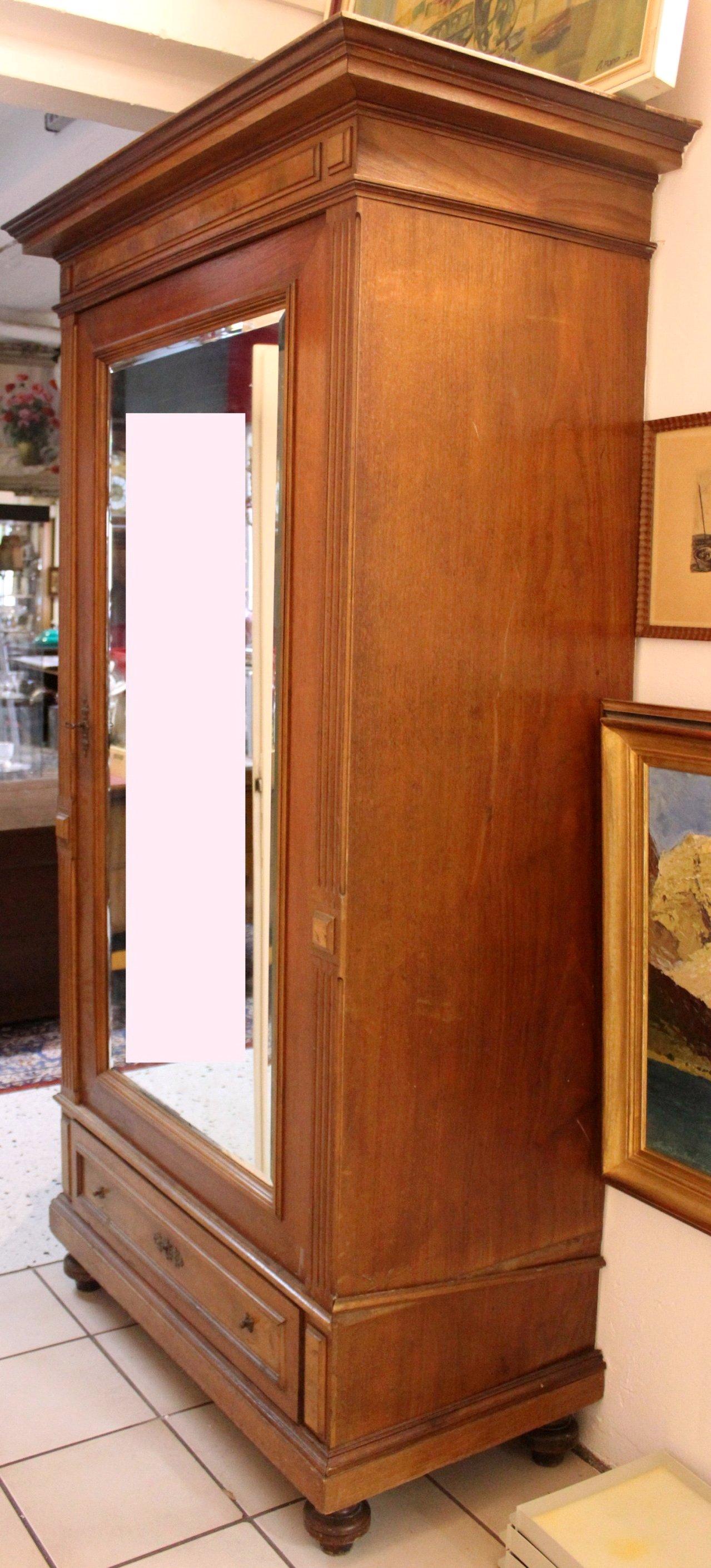 Gründerzeit Spiegelschrank um 1880-1