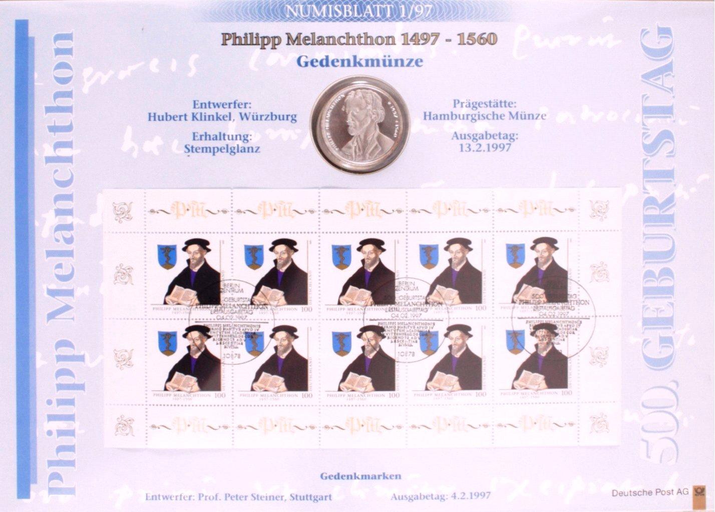 Numisblätter Bund 1997 bis 2000, komplette Jahrgänge-1