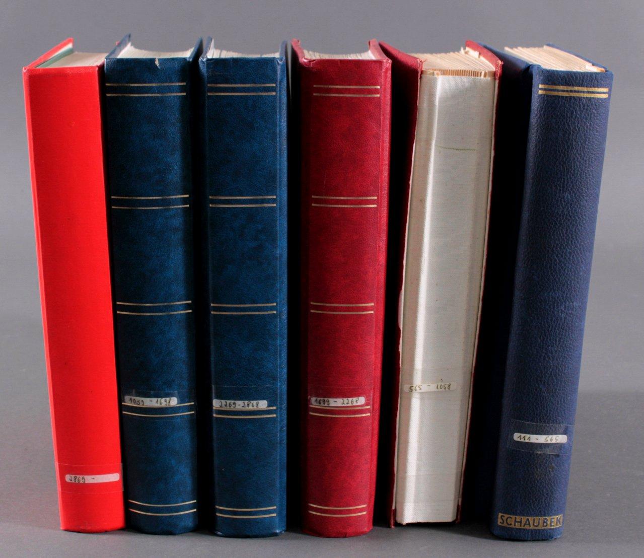 6 Lagerbücher Bundesrepublik Deutschland ab 1949