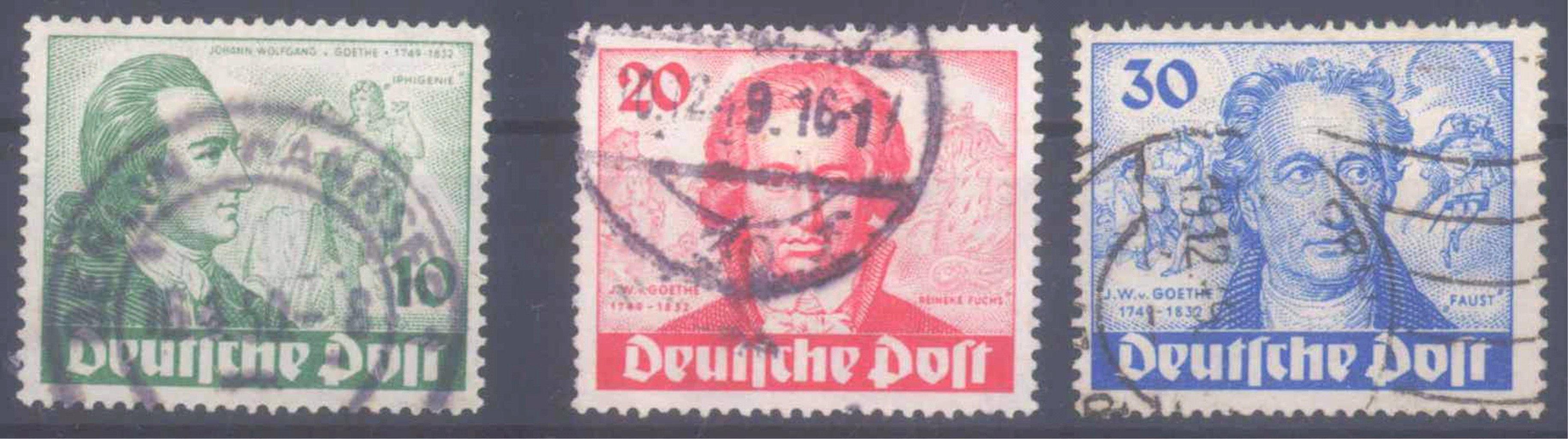Berlin 200. Geburtstag J.W. von Goethe, Mi 61-63