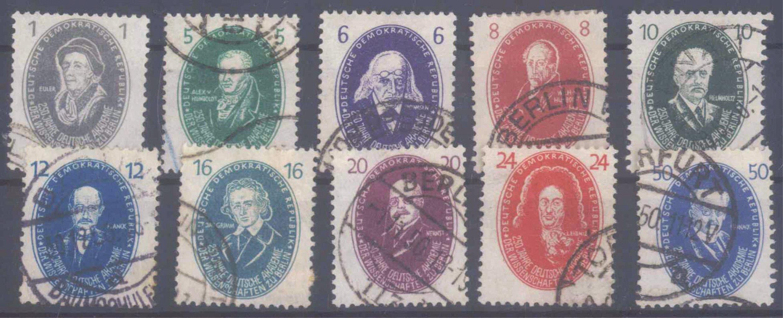 DDR 1950, Michel 261-270