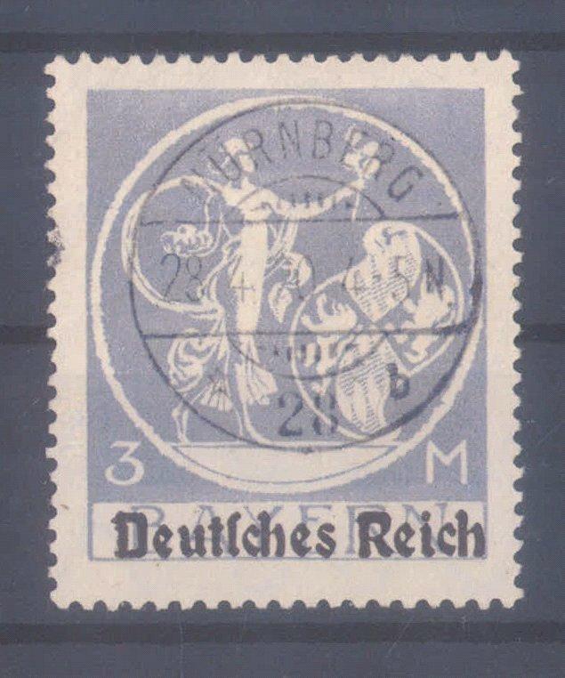 Deutsche Reich, Michel 134/137 II, nicht eingekerbtes 'R'