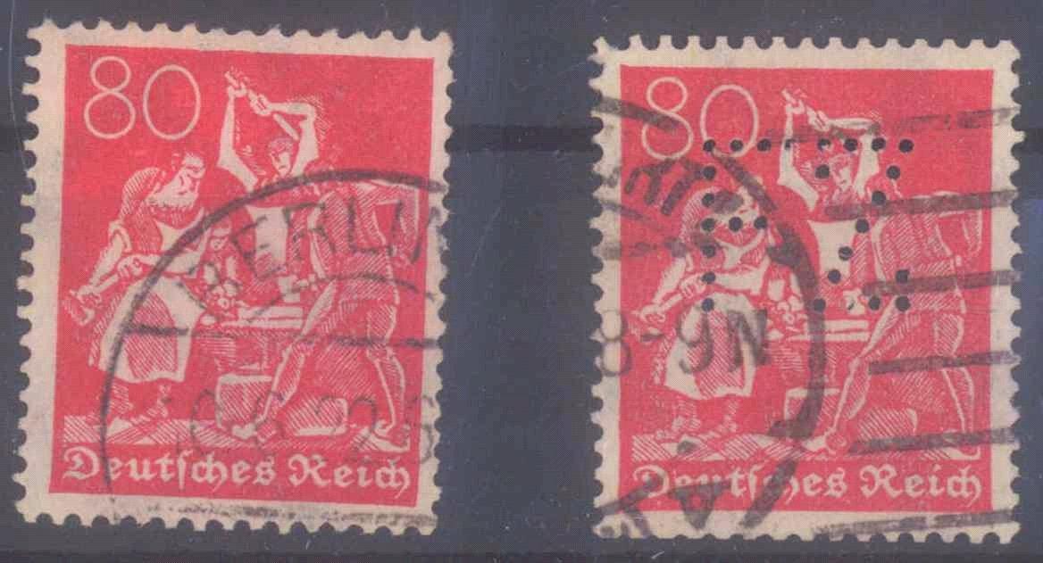 Deutsches Reich, 2x Michel 186, gestempelt