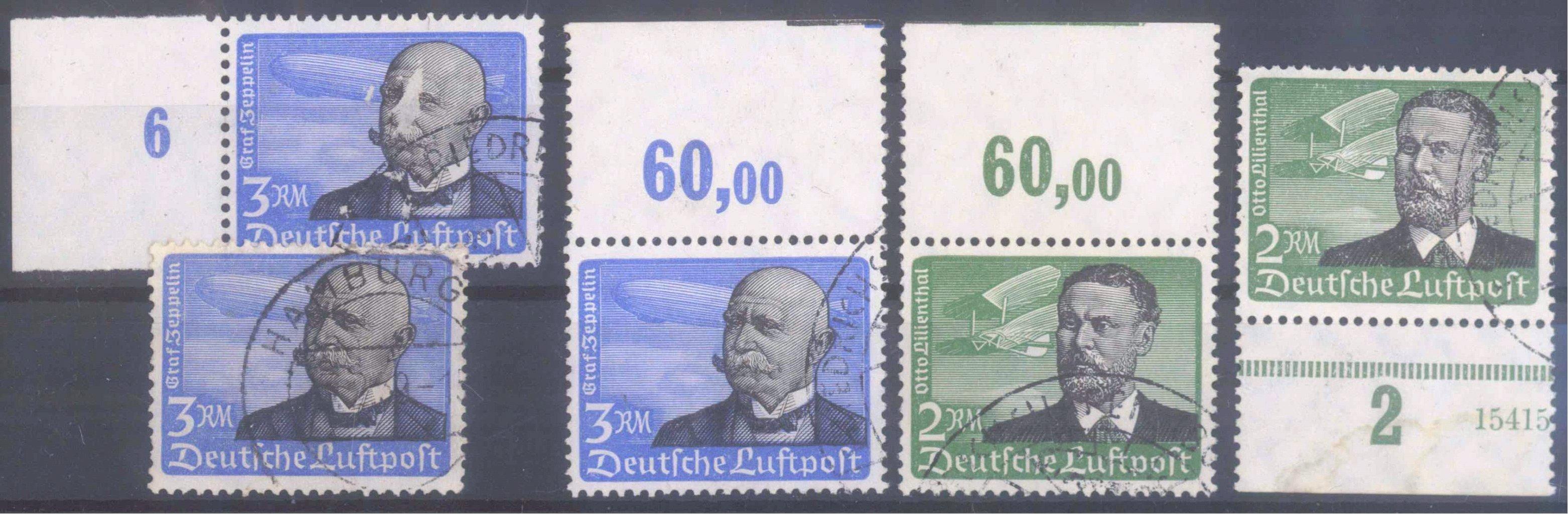 Deutsches Reich, Michel 538 und 539 gestempelt mit RSt