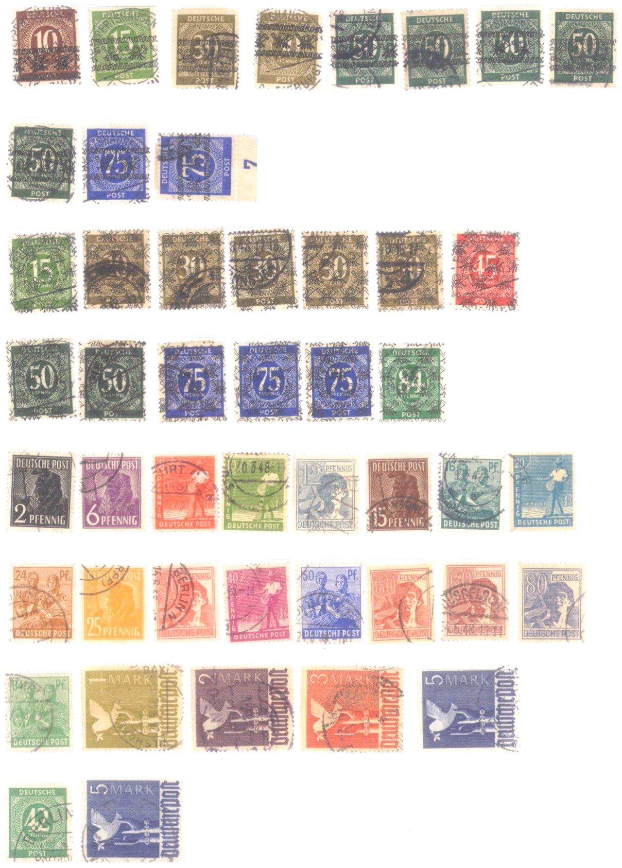 Allierte Besetzung, Lot mit ganzen Sätzen und Einzelmarken-1